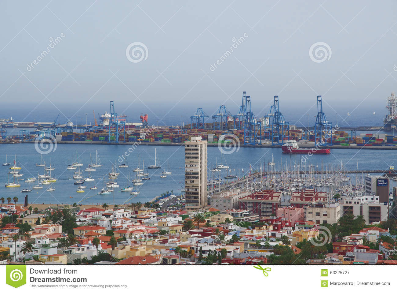 Port of las palmas de gran canaria spain editorial image 38612756 - Port of las palmas gran canaria ...