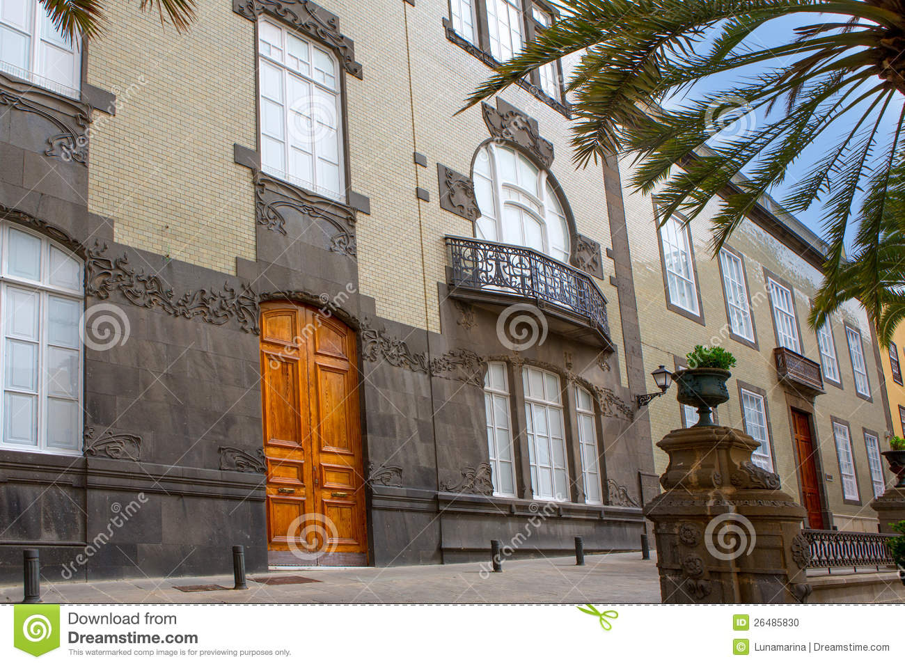 Las palmas de gran canaria veguetal houses stock photo - Houses in gran canaria ...
