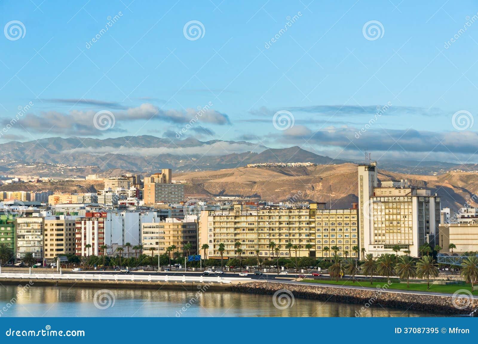 Download Las Palmas Miasto, Gran Canaria, Hiszpania Obraz Stock - Obraz złożonej z rozrywka, europejczycy: 37087395