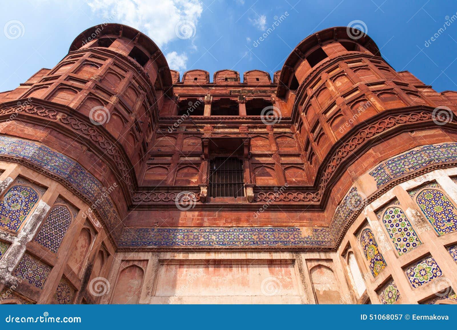 Las paredes del fuerte de Agra