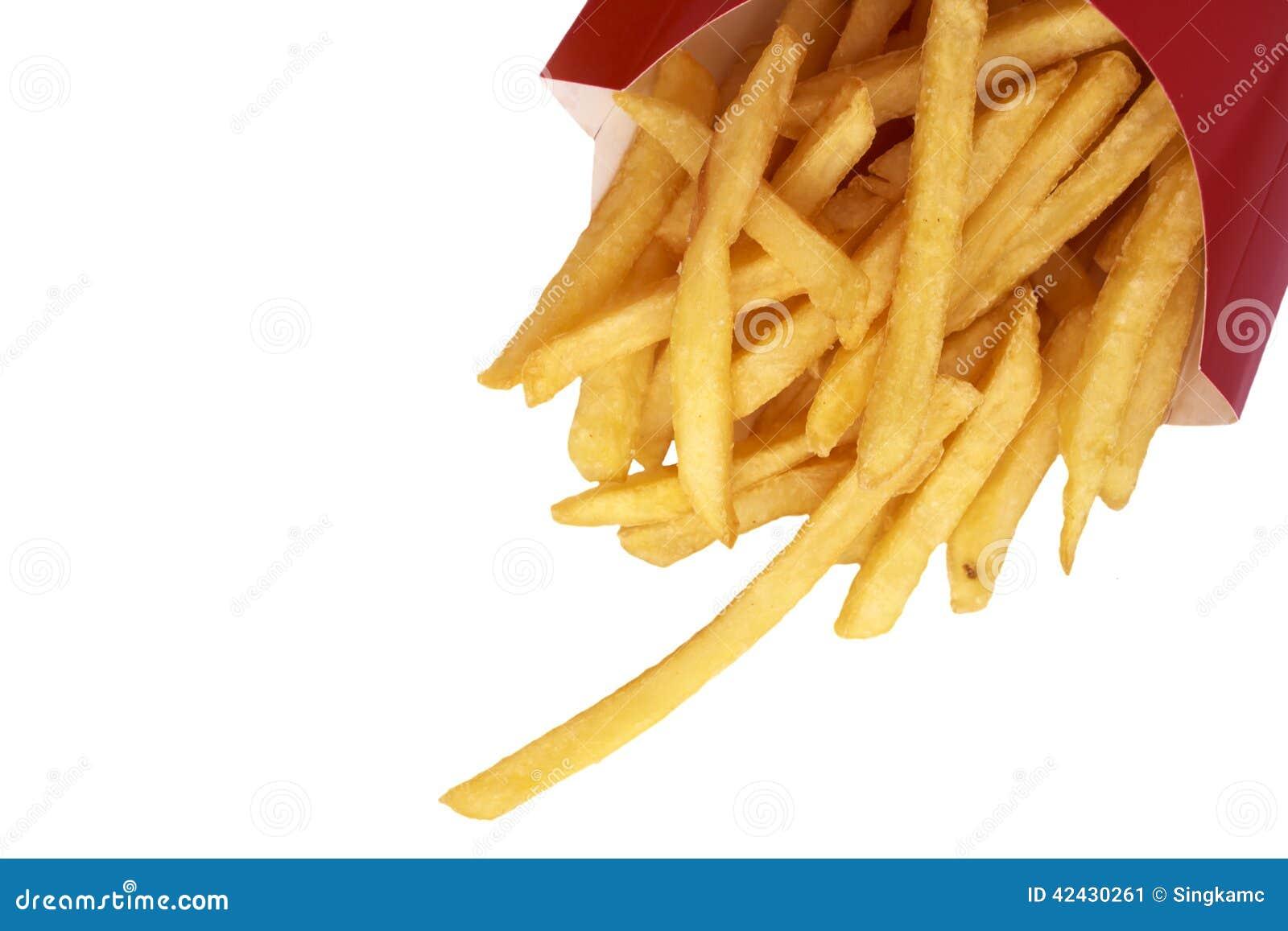 Las patatas fritas se cierran para arriba