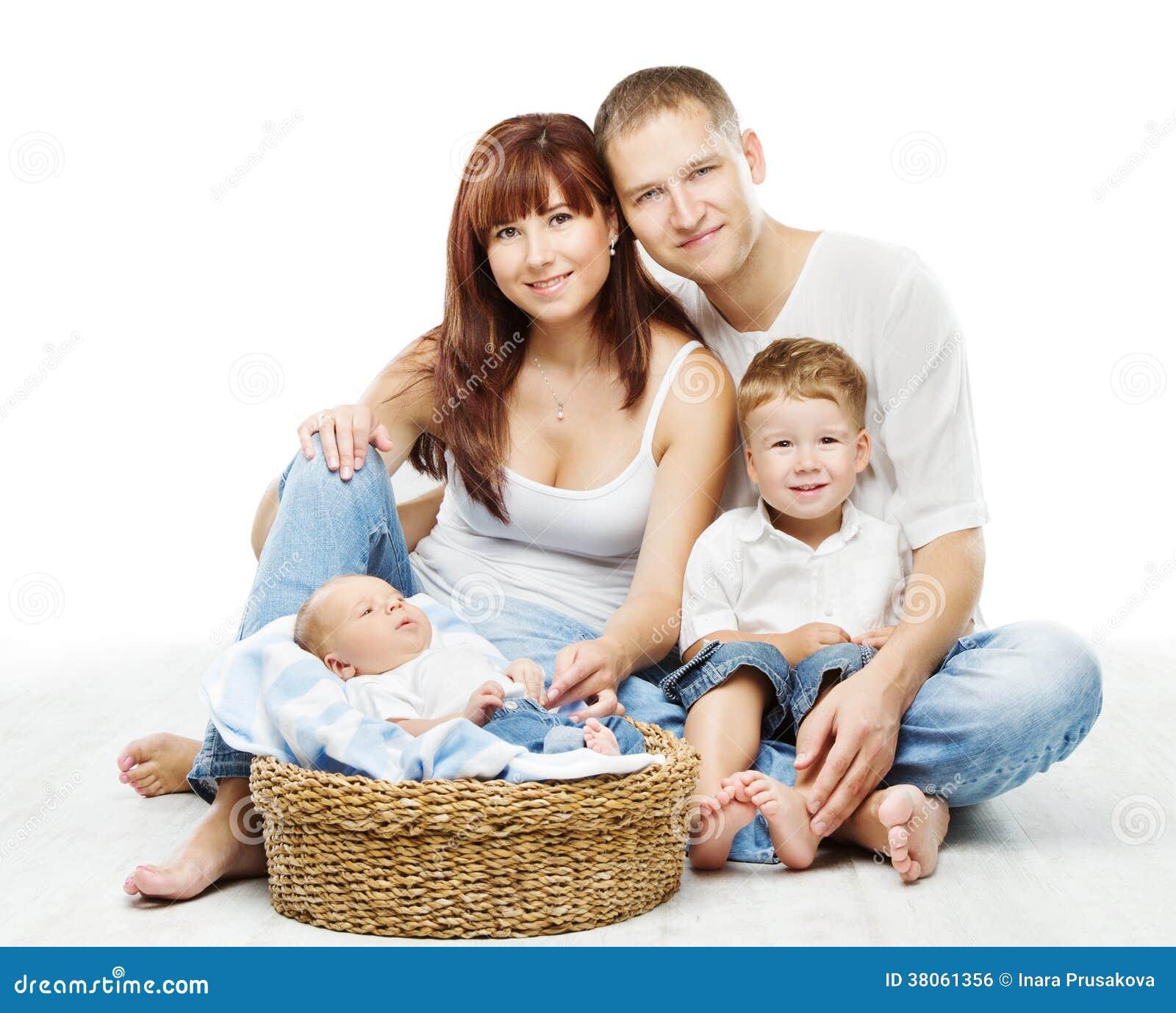 Las personas jovenes de la familia cuatro padre sonriente for Hotel para cuatro personas
