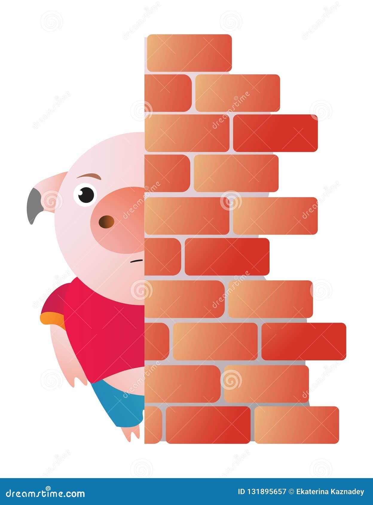Las pieles de cerdo detrás de la pared y de los píos