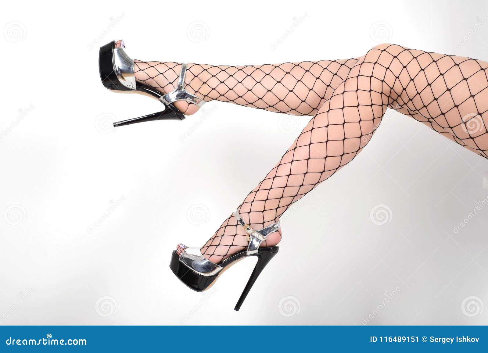 9fca85c46 Las Piernas Atractivas Del ` S De La Mujer Que Llevan Medias Y Los ...
