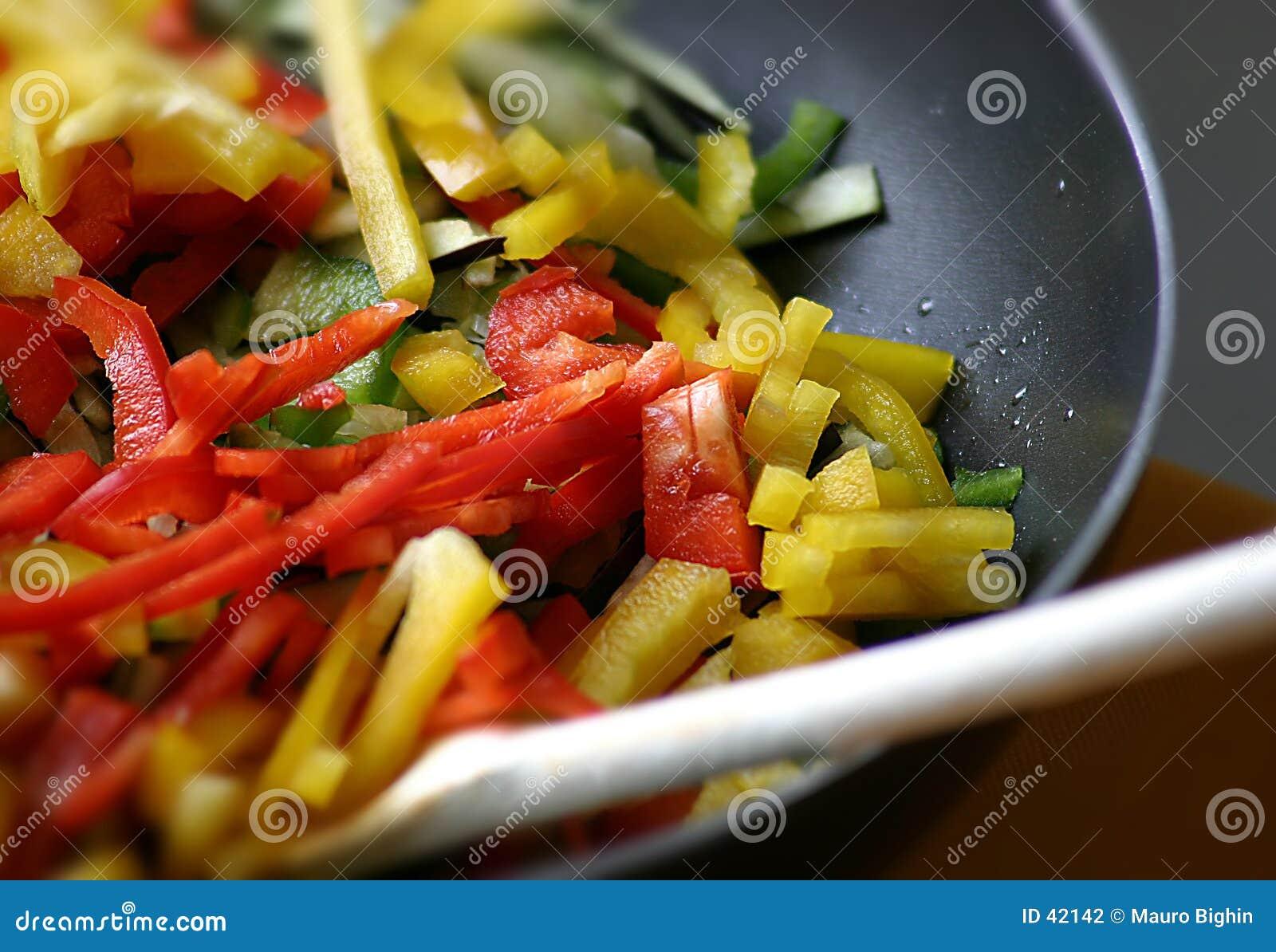 Download Las Pimientas Se Cierran Para Arriba Foto de archivo - Imagen de amarillo, cooking: 42142