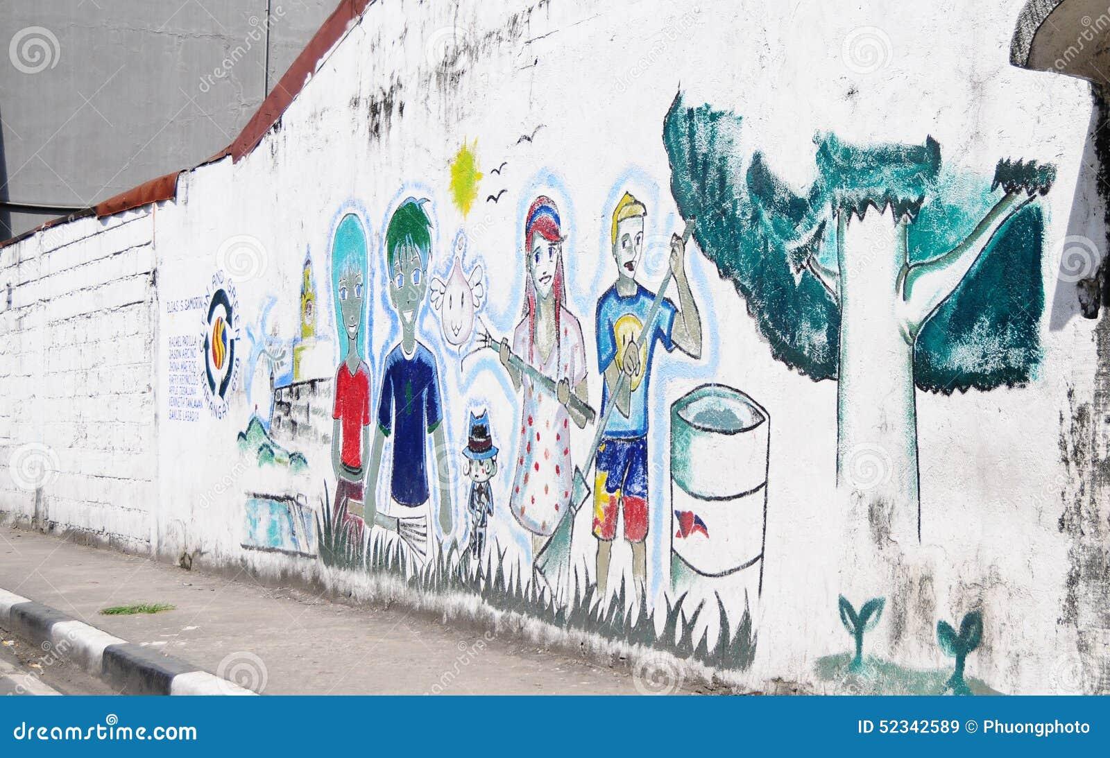 Las Pinturas Coloridas Y El Arte De La Calle Alinean Las Paredes - Pinturas-en-paredes