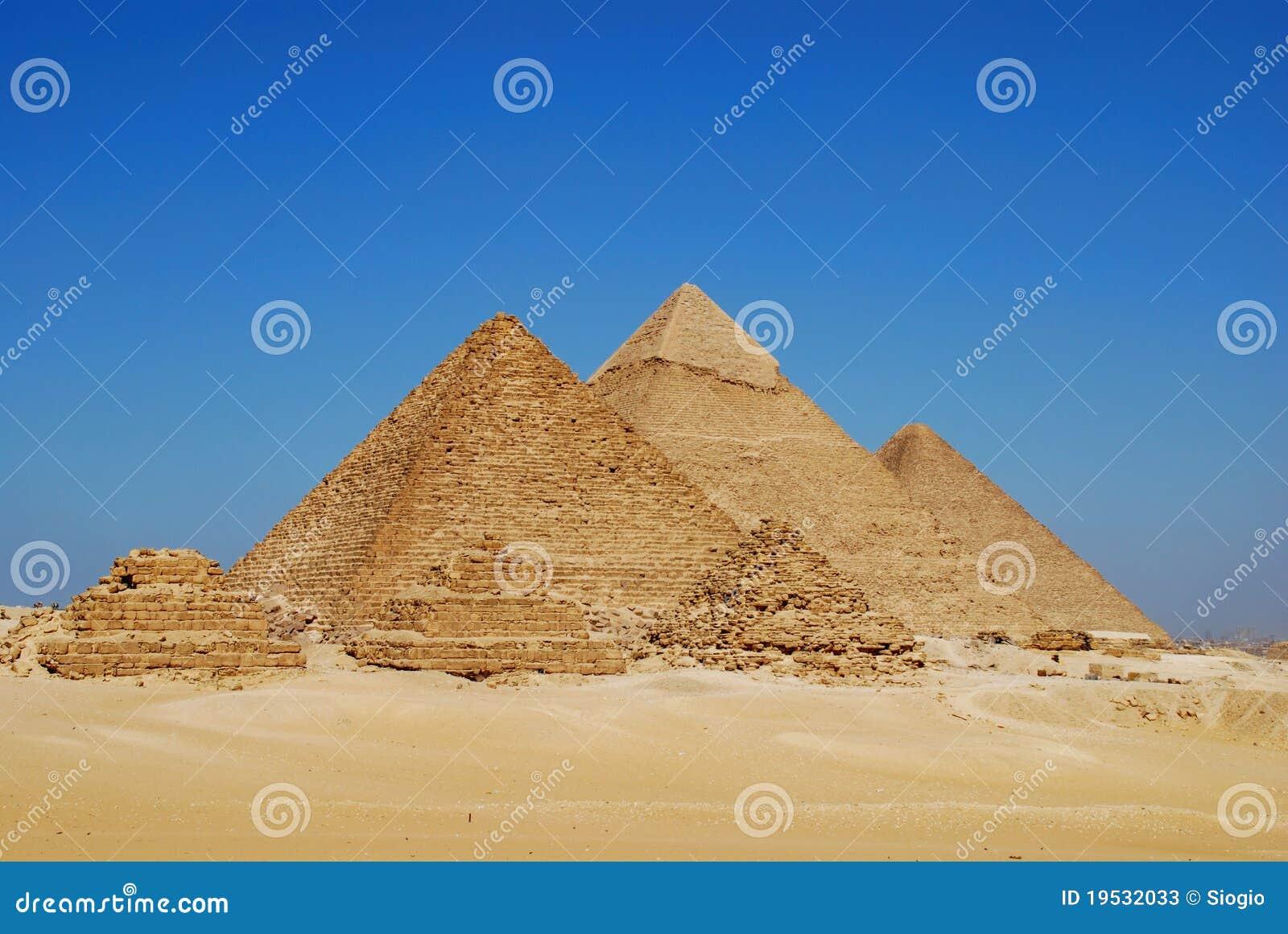 Las pirámides en Giza