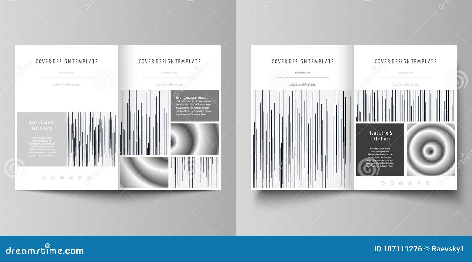 Las plantillas del negocio para el BI doblan el folleto, revista, aviador Cubra la plantilla del diseño, disposición abstracta de