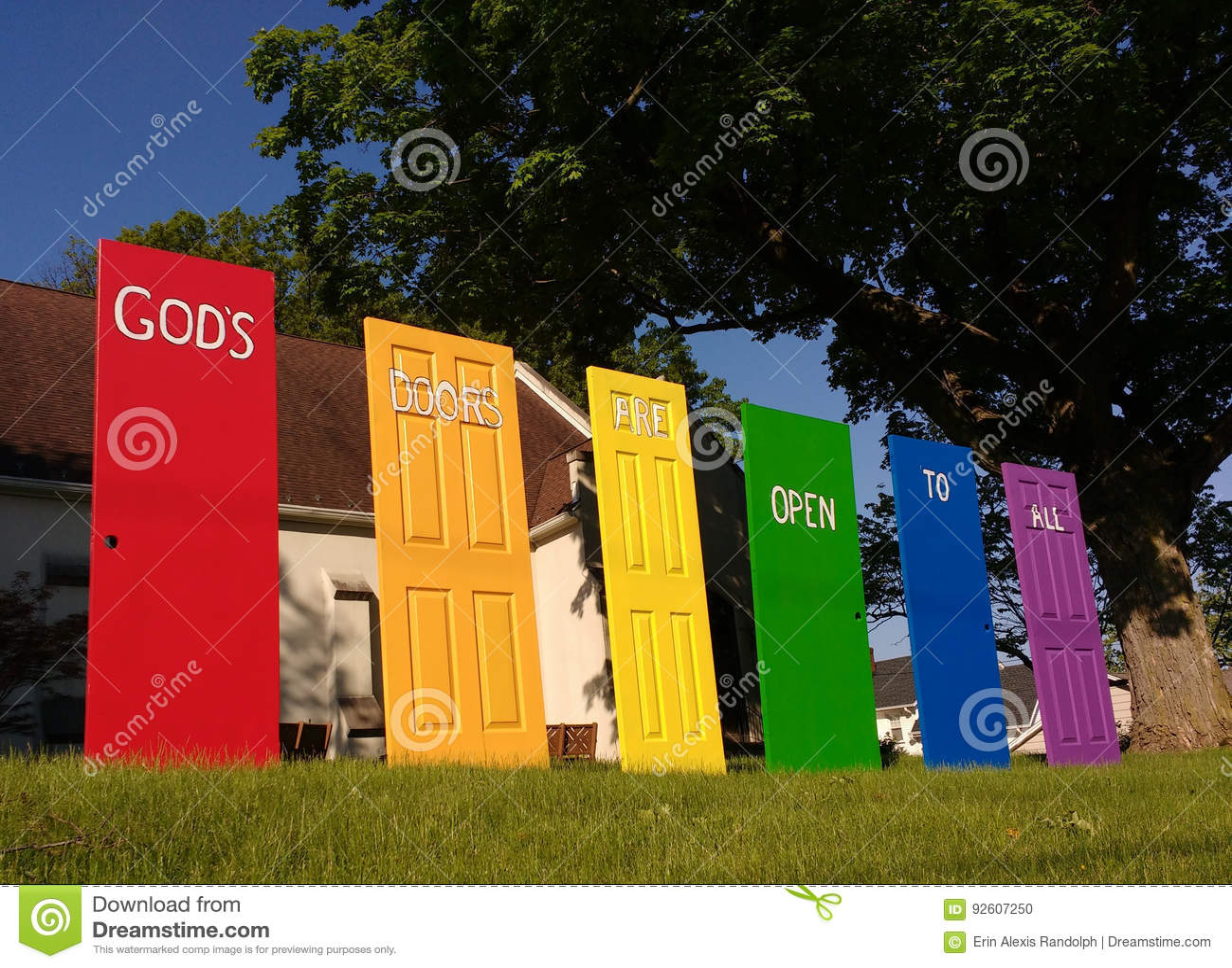 Las puertas del ` s de dios están abiertas a todos, orgullo de LGBT, NJ, los E.E.U.U.