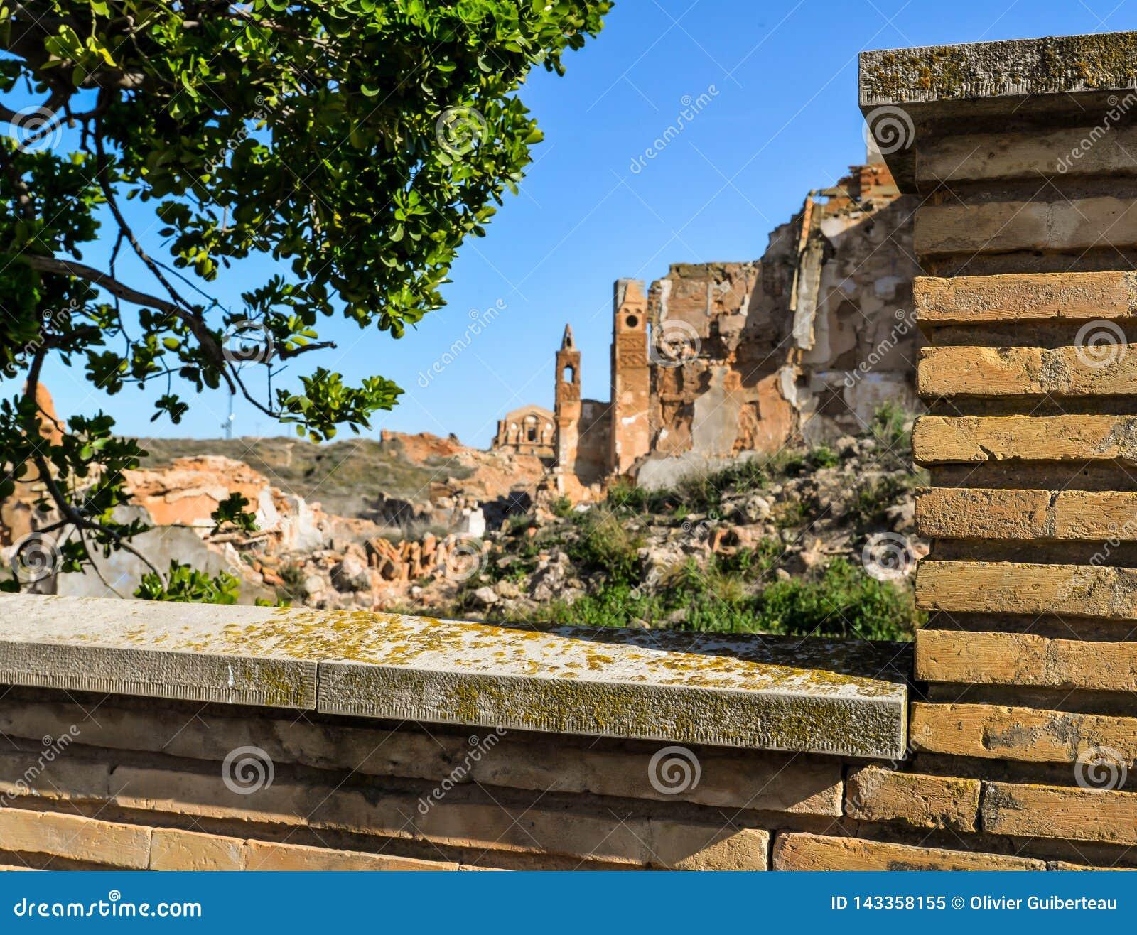 Las ruinas de Belchite - España