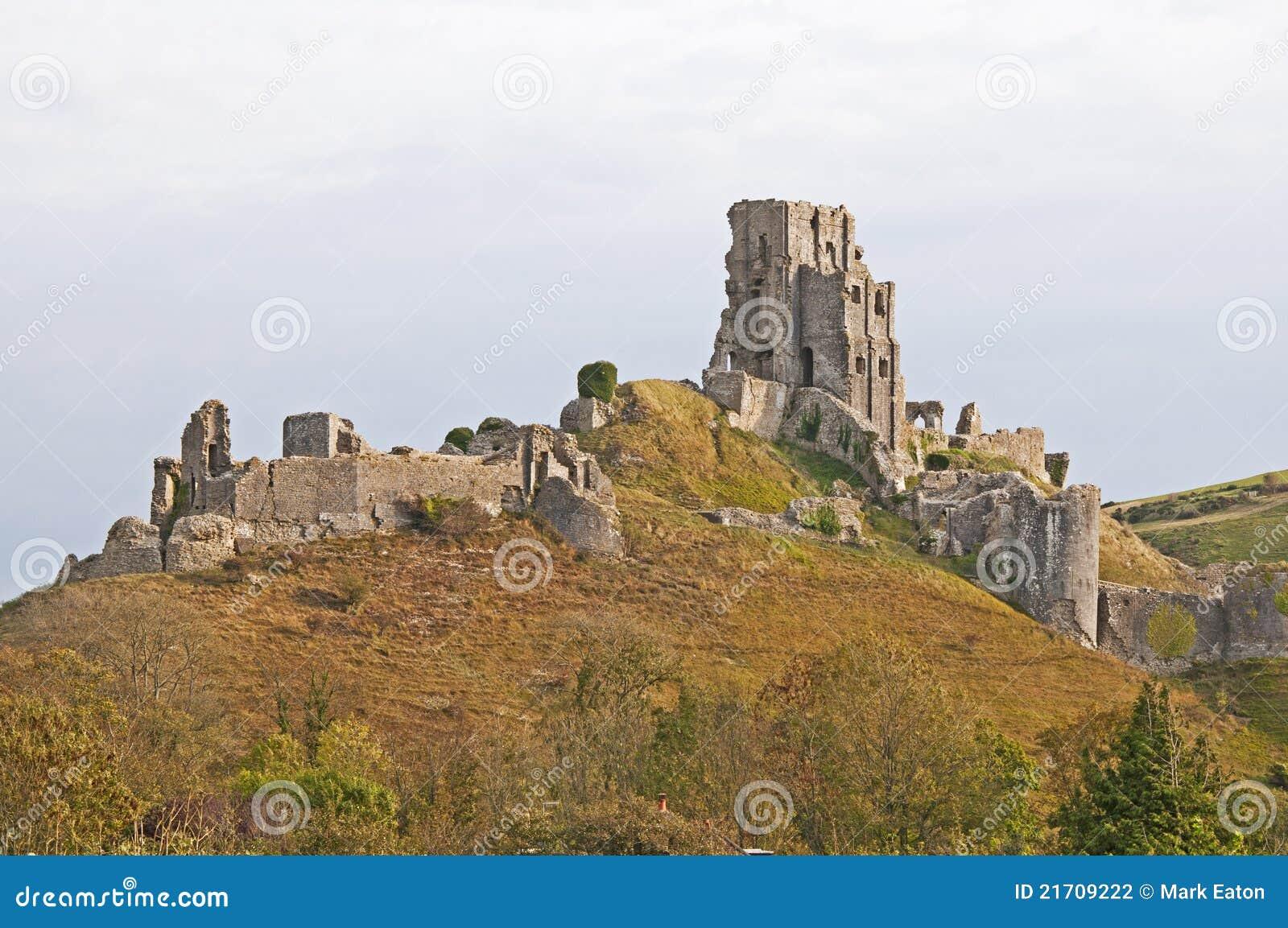 Las ruinas del castillo de Corfe