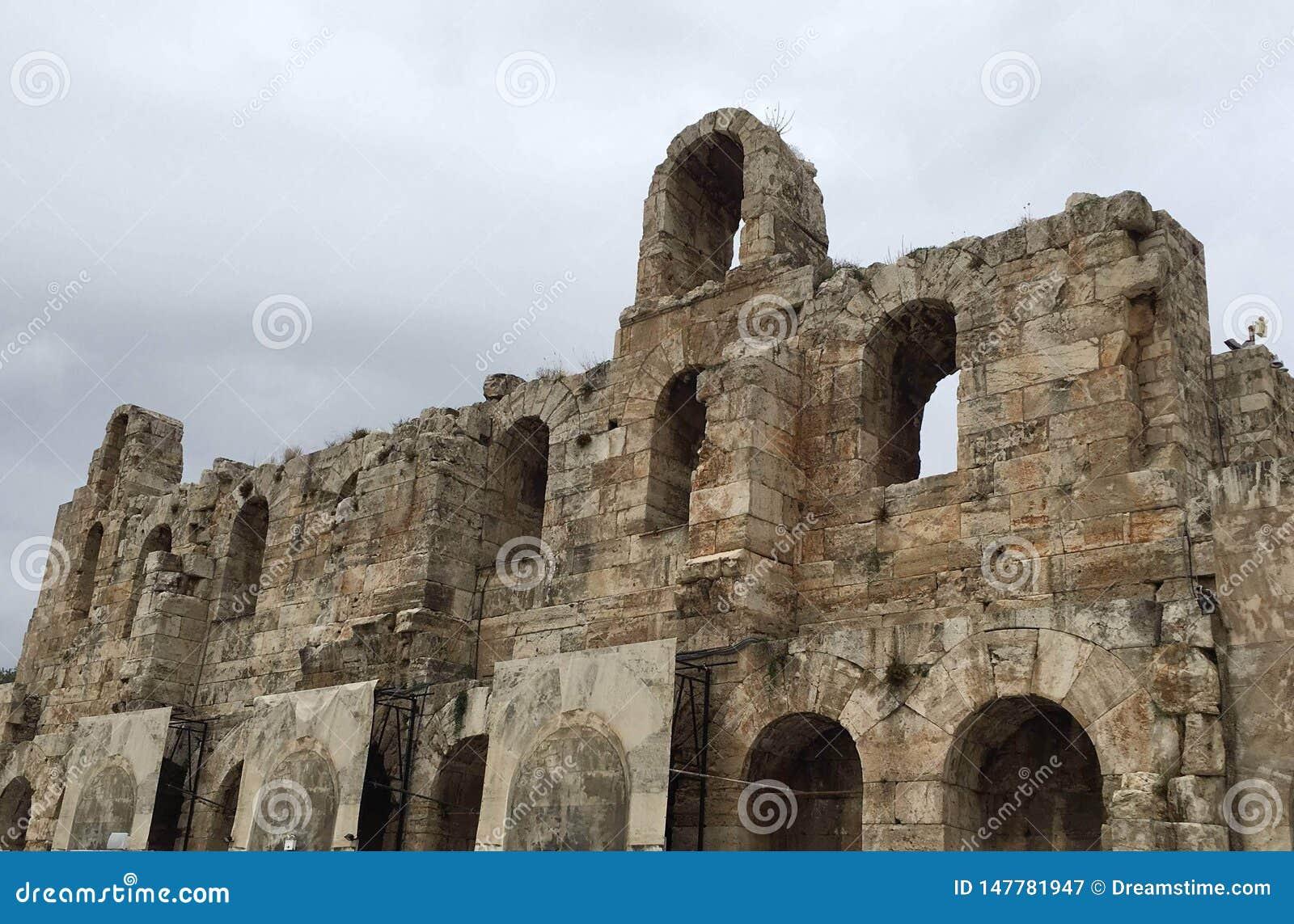 Las ruinas derechas de Grecia