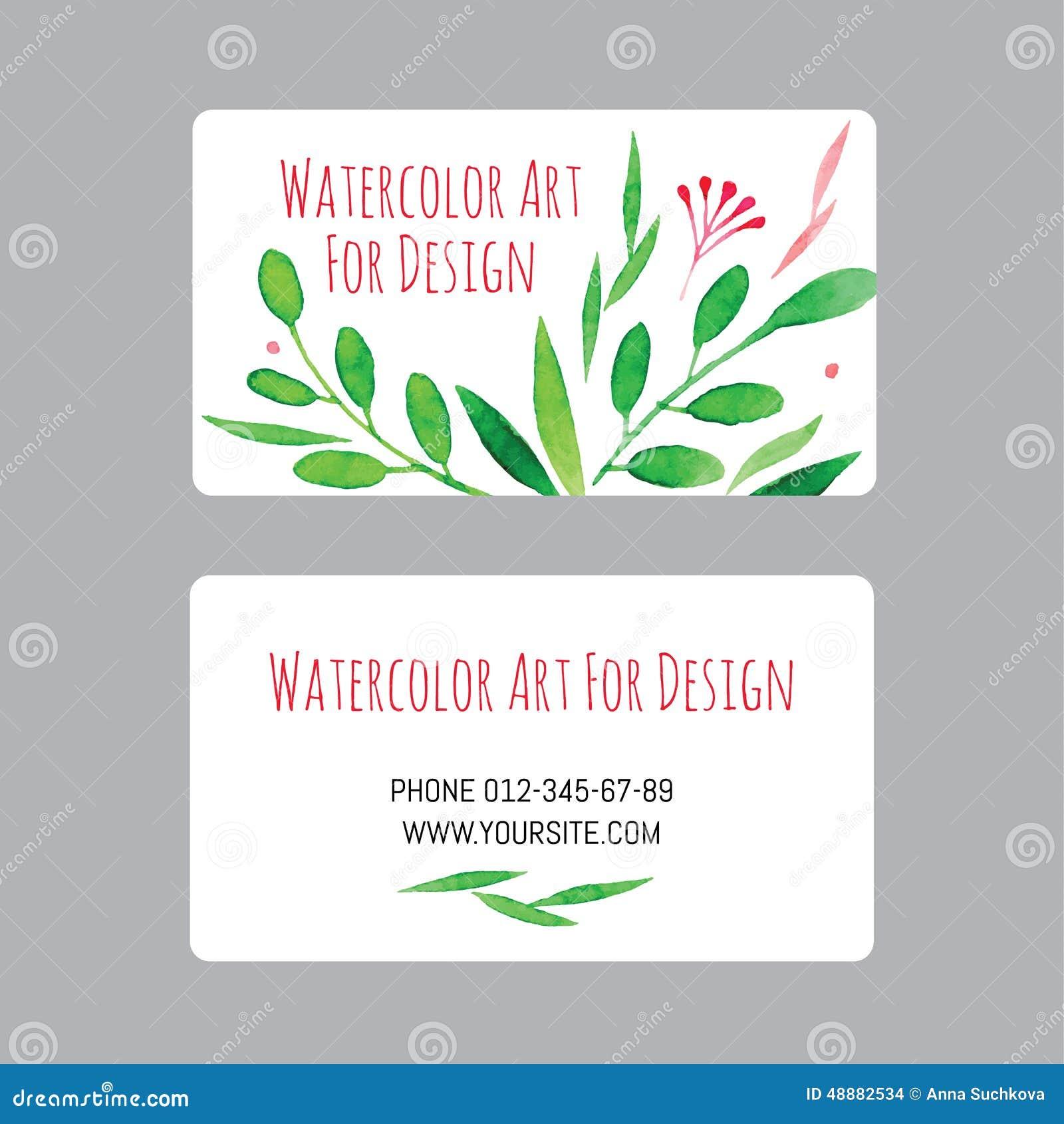 Las Tarjetas De Visita Diseñan La Plantilla Con Los Dibujos De La ...