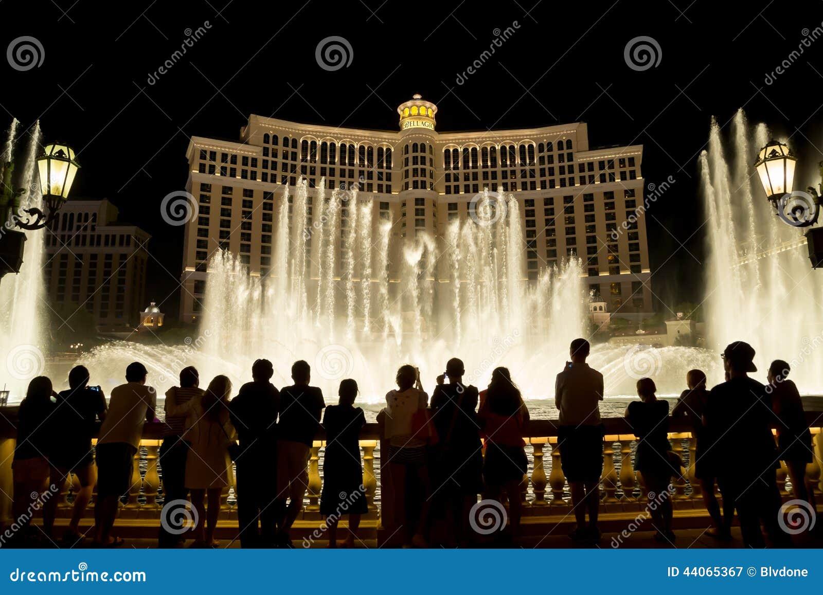Las Vegas Bellagio Hotel water fountain