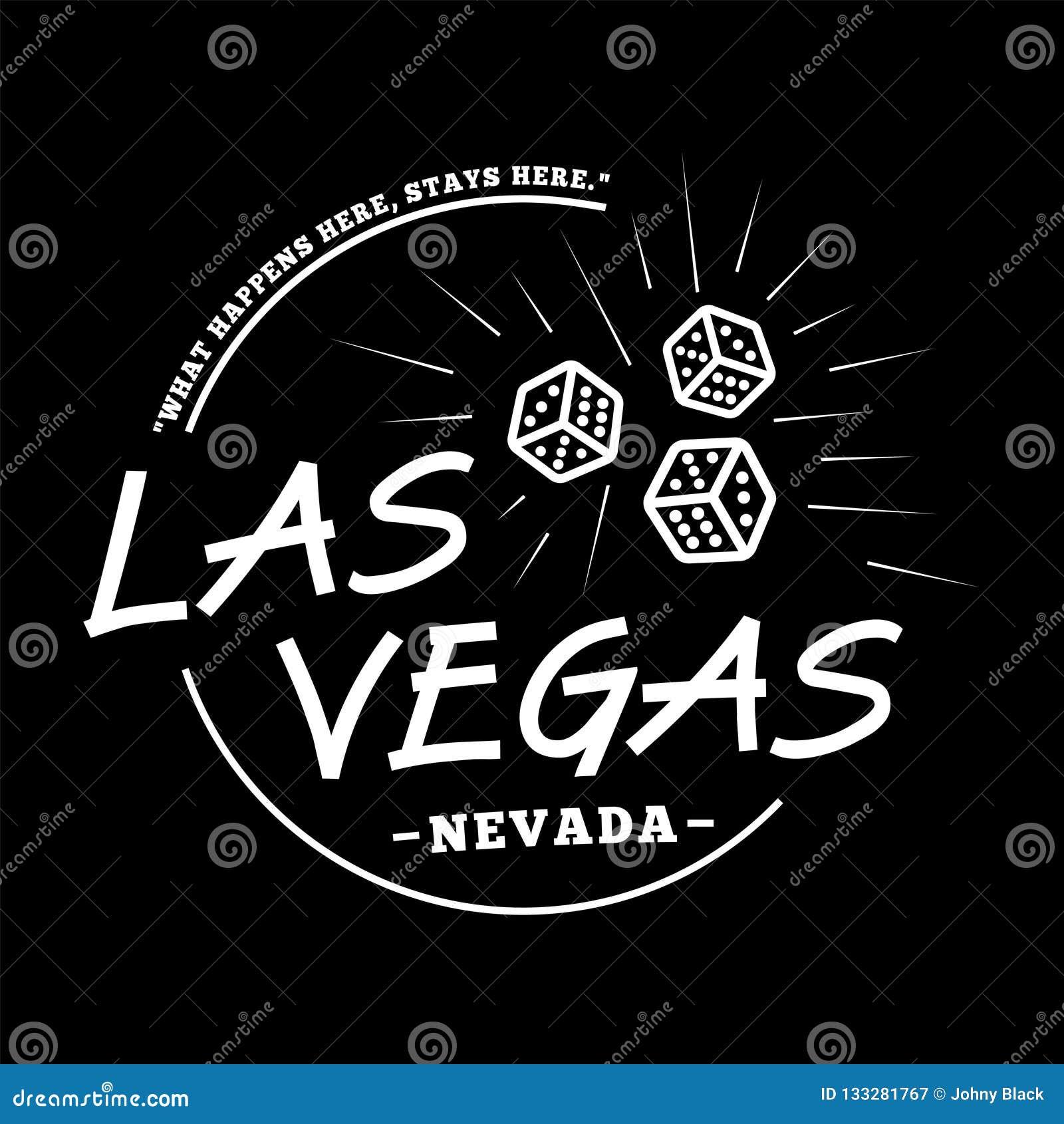 Las Vegas Logotype Las Vegas Vector And Illustration Stock Vector