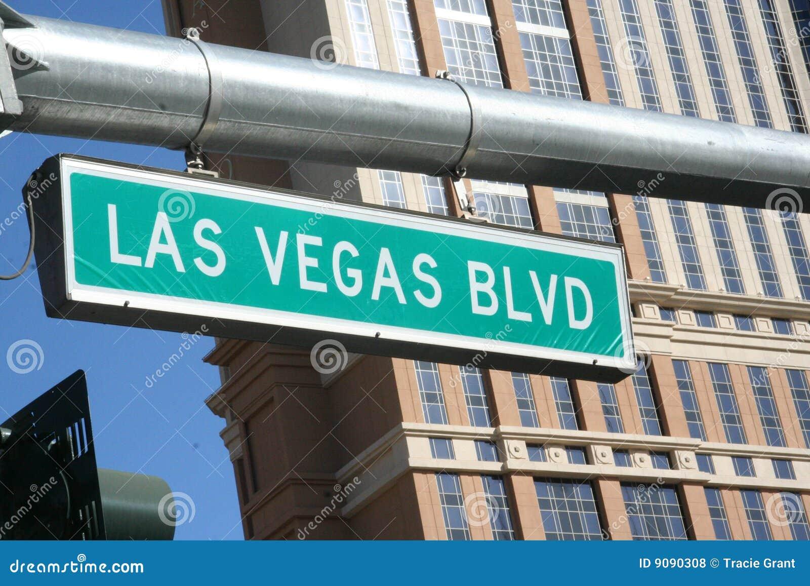 Las- Vegas Blvdzeichen