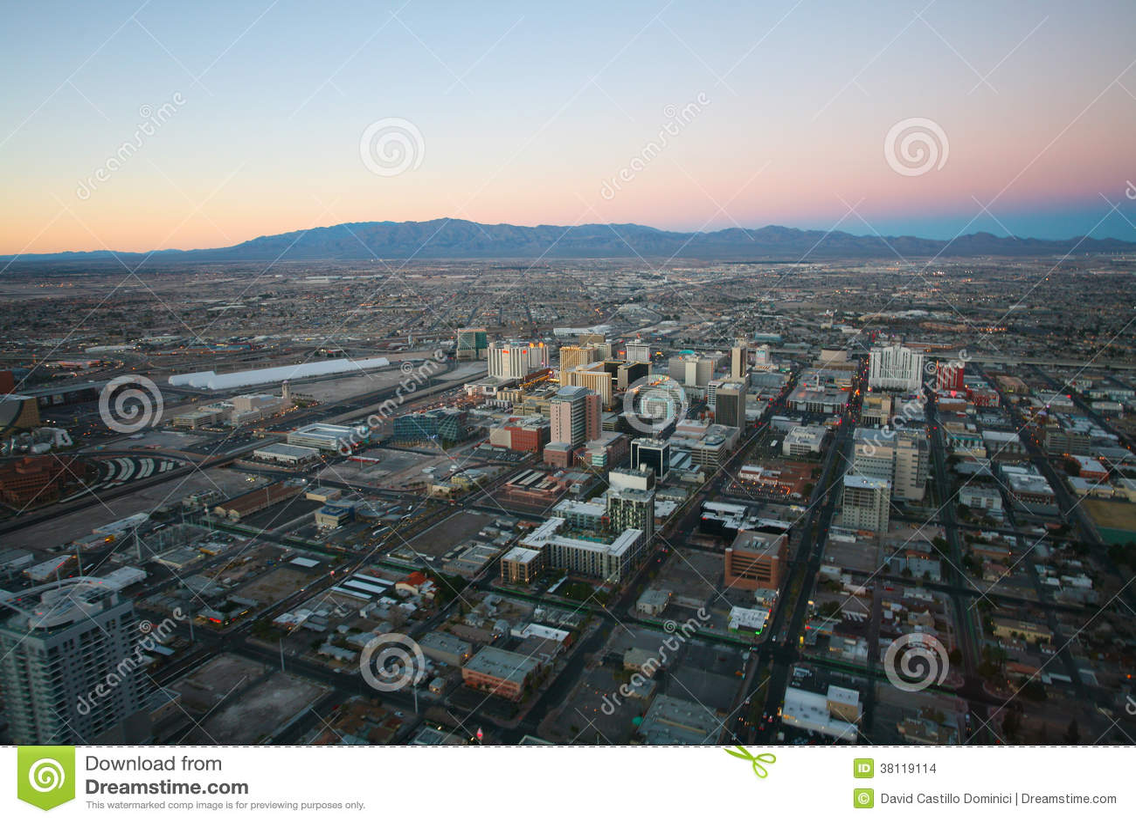 las vegas circa 2014 vegas sunset aerial panorama featured w editorial stock image image. Black Bedroom Furniture Sets. Home Design Ideas