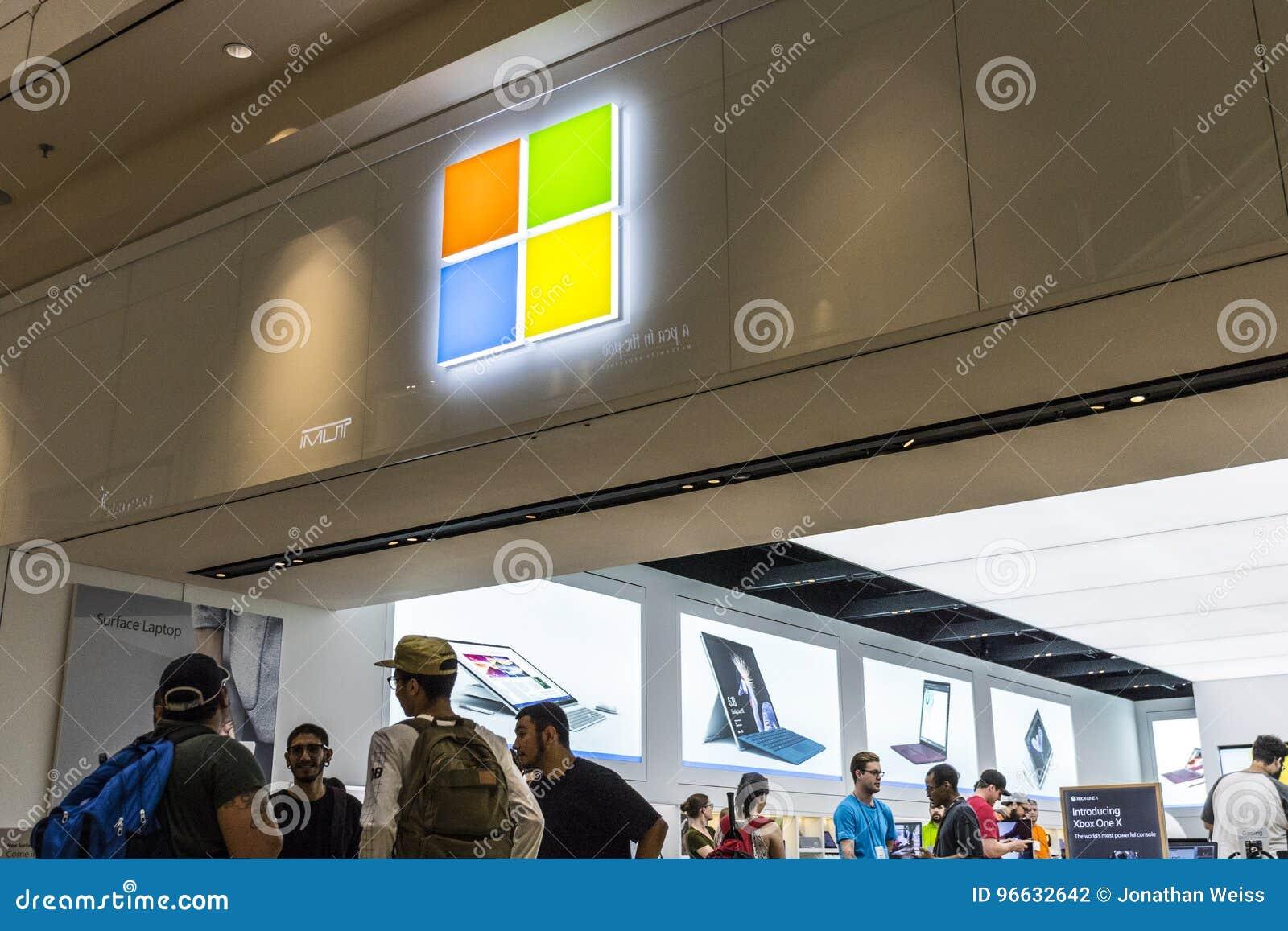 Las Vegas - Circa July 2017: Microsoft Retail Technology