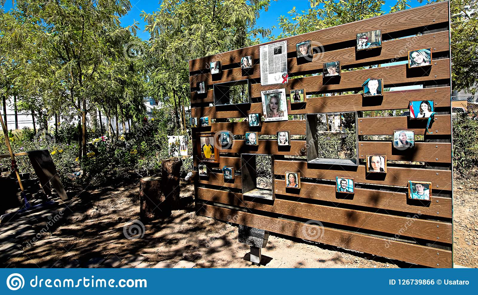 The Las Vegas Community Healing Garden Editorial Photo Image Of