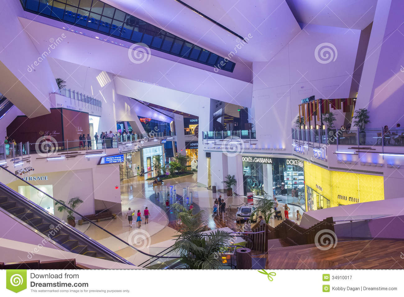 Las Vegas Crystals mall editorial photography  Image of mall