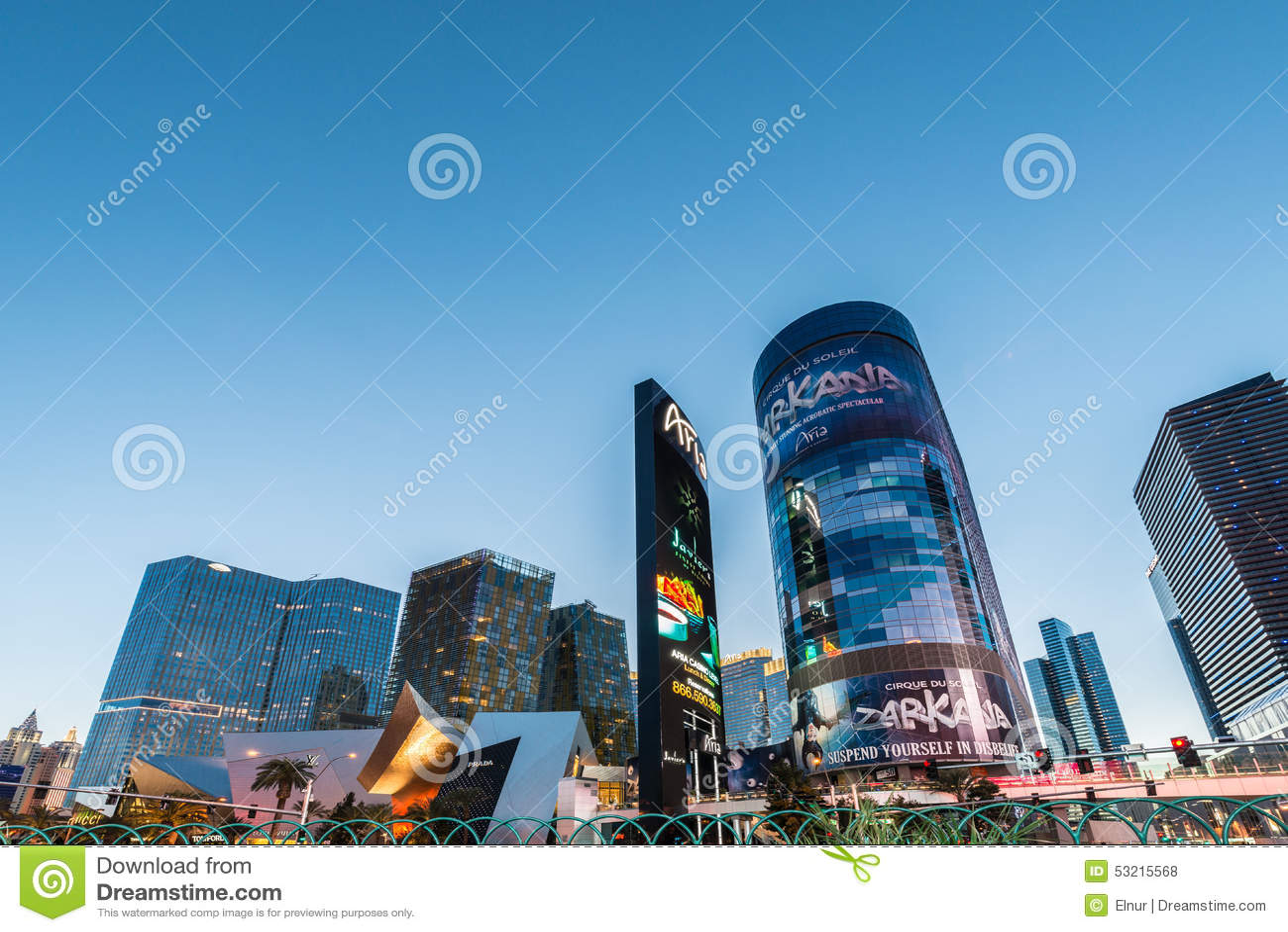 LAS VEGAS - 21 DE DICIEMBRE: Casinos famosos de Las Vegas