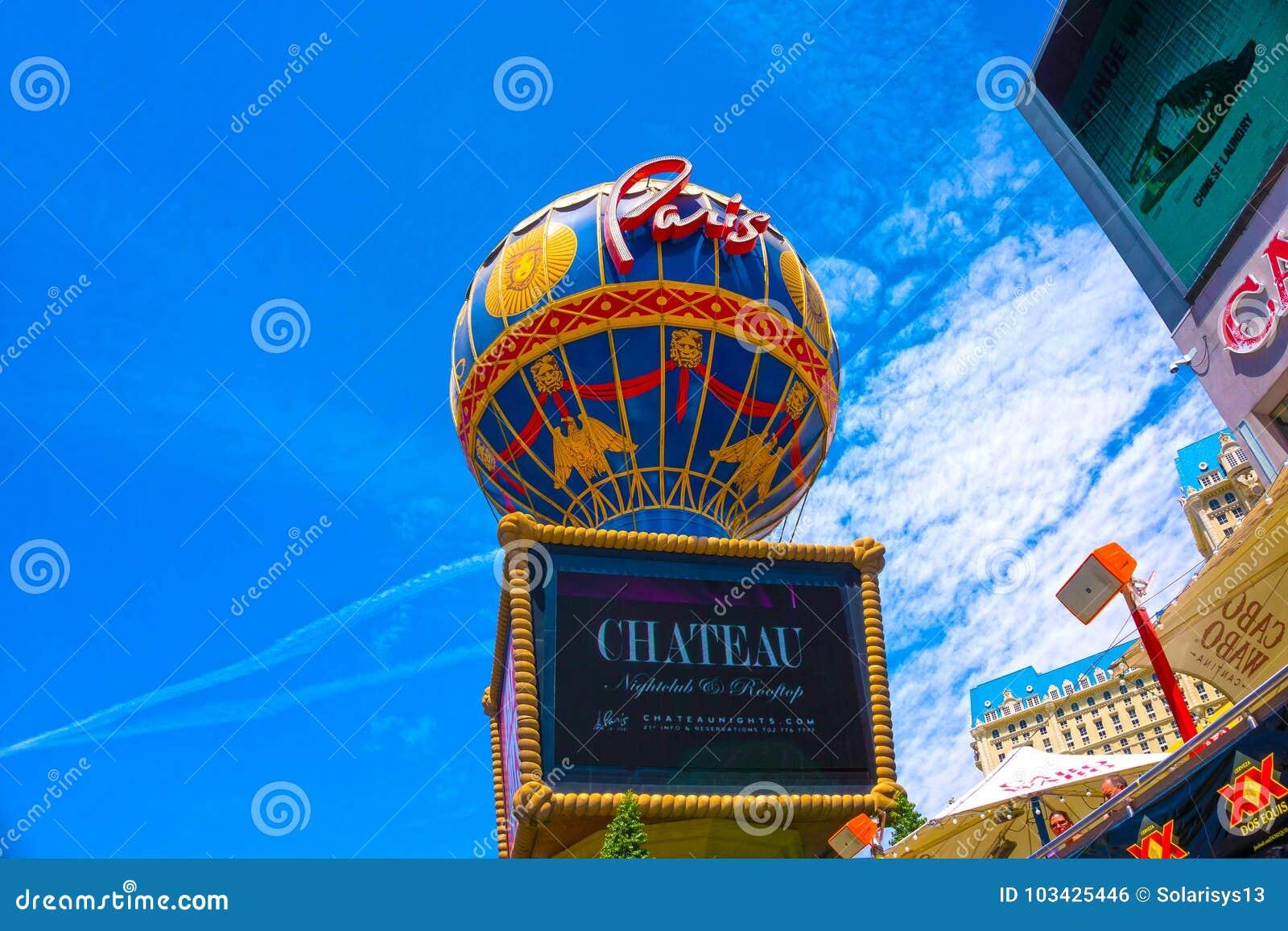Las Vegas, de Verenigde Staten van Amerika - Mei 05, 2016: De mening van het hotel van Parijs bij de strook van Las Vegas