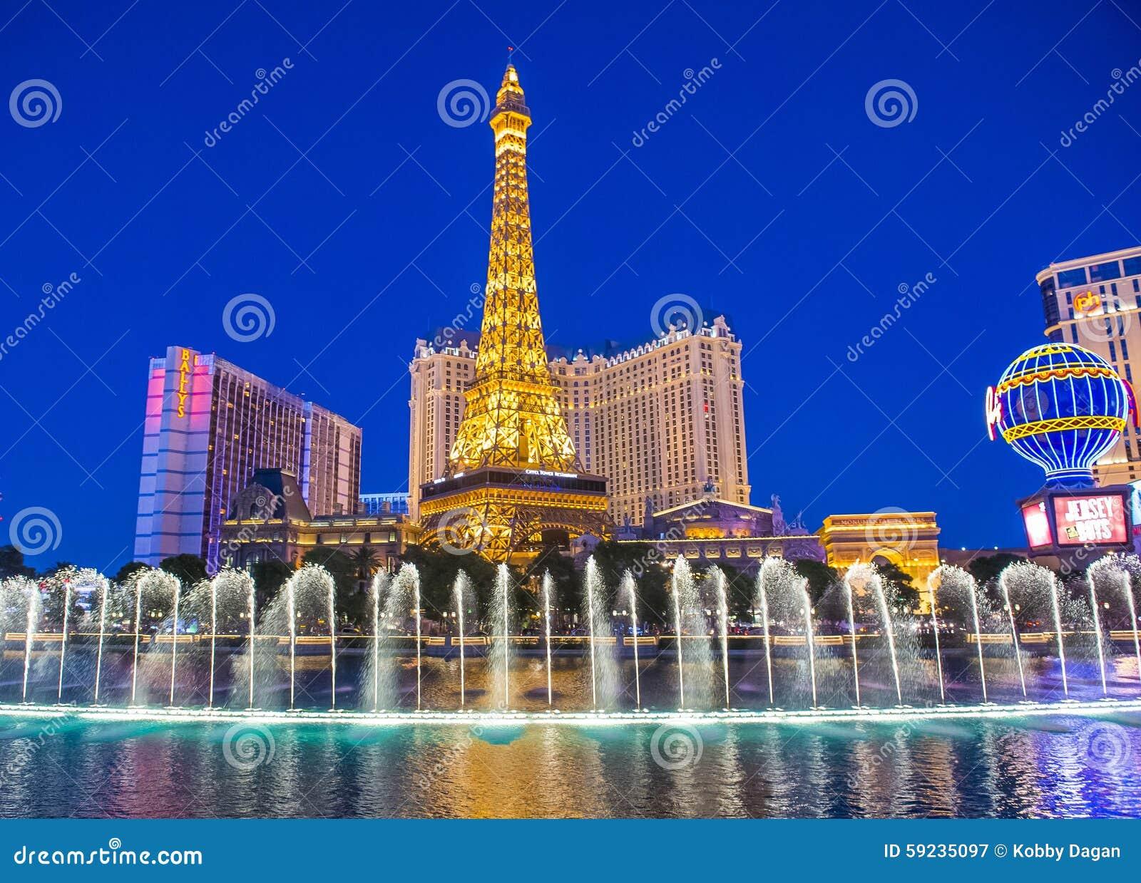 Download Las Vegas, fuentes fotografía editorial. Imagen de parís - 59235097