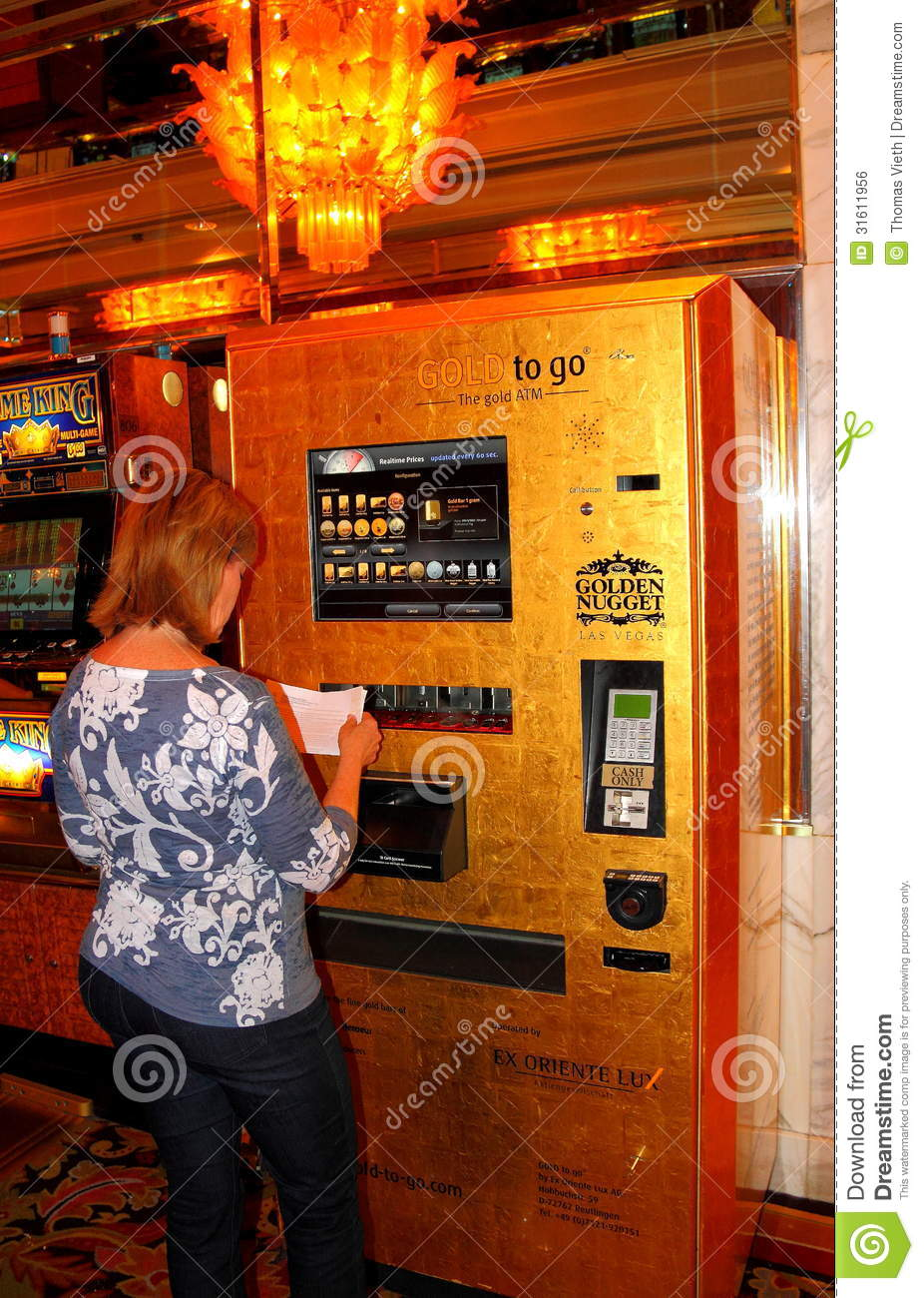 golden nugget casino gold vending machine