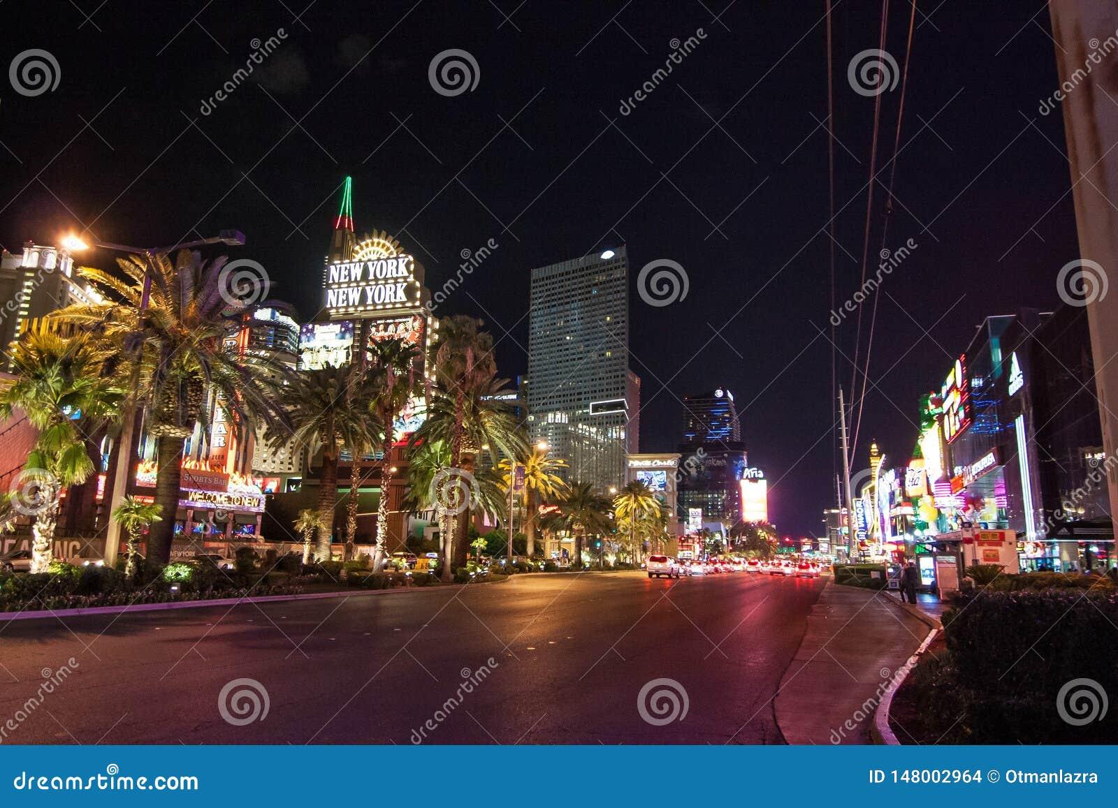 Las Vegas-Kasinos bis zum Nacht