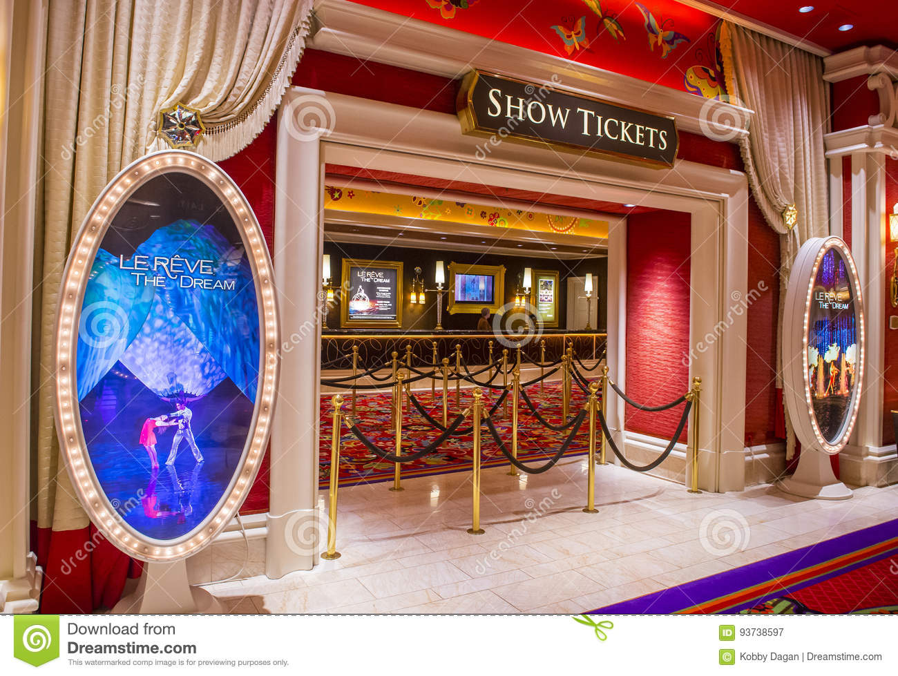 Las Vegas Le Reve Editorial Photography Image Of Evening 93738597