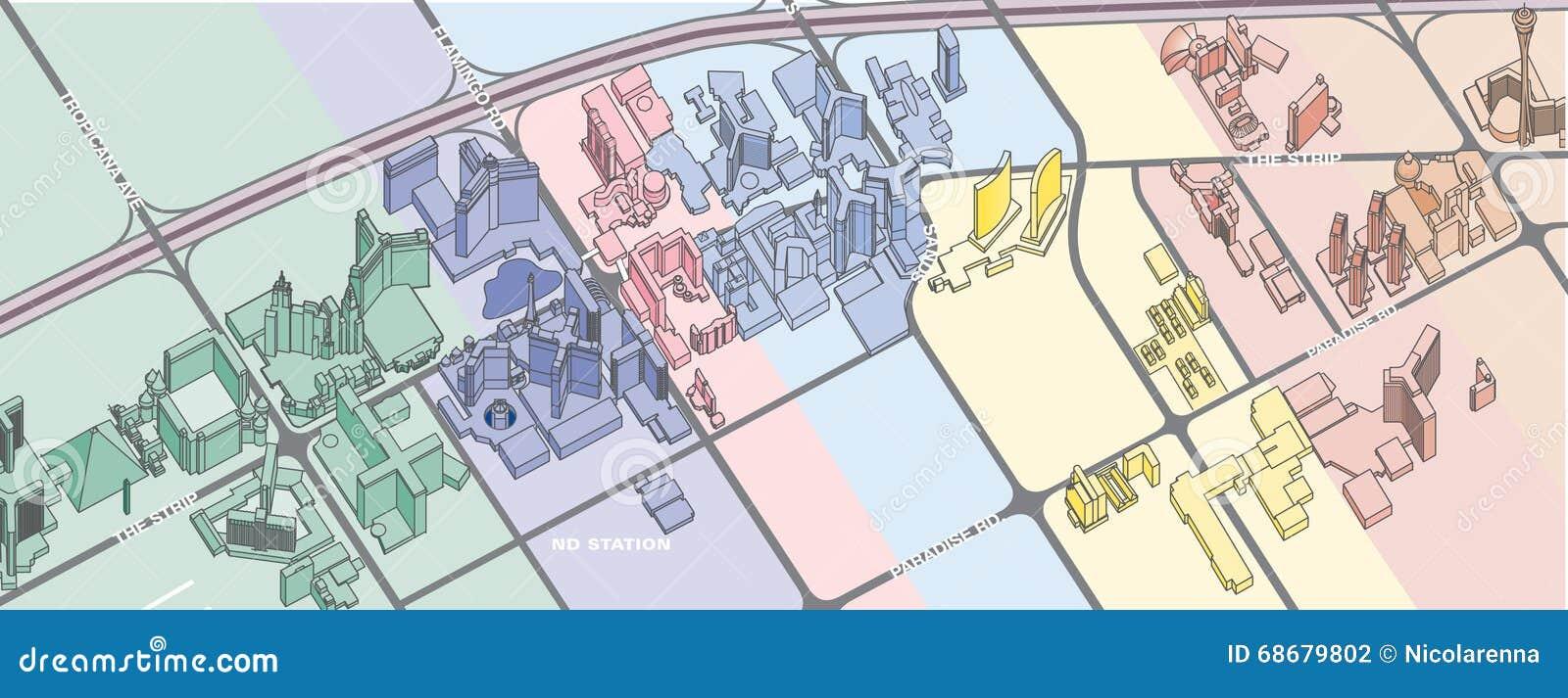 The Park Las Vegas Map.Las Vegas Map Stock Illustration Illustration Of Park 68679802