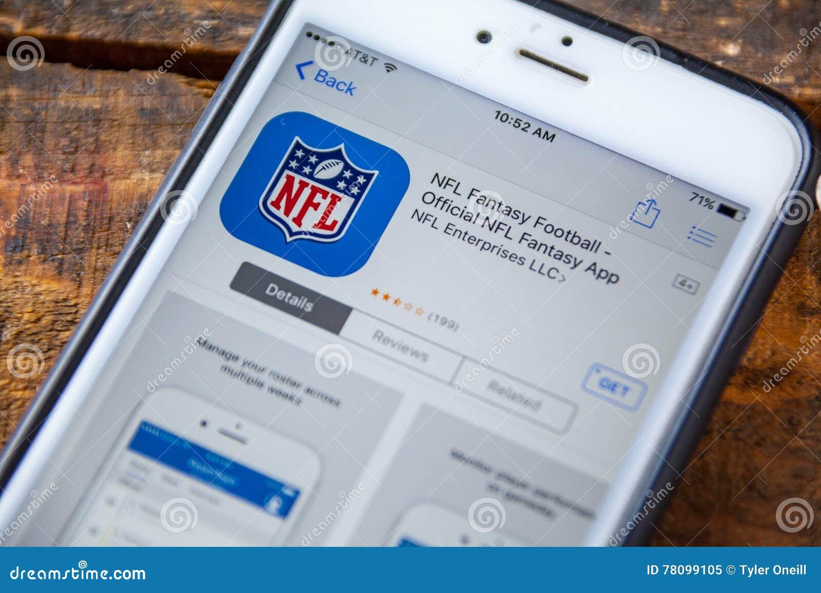 LAS VEGAS, nanovolt - 22 septembre 2016 - IPhone du football d imagination de NFL
