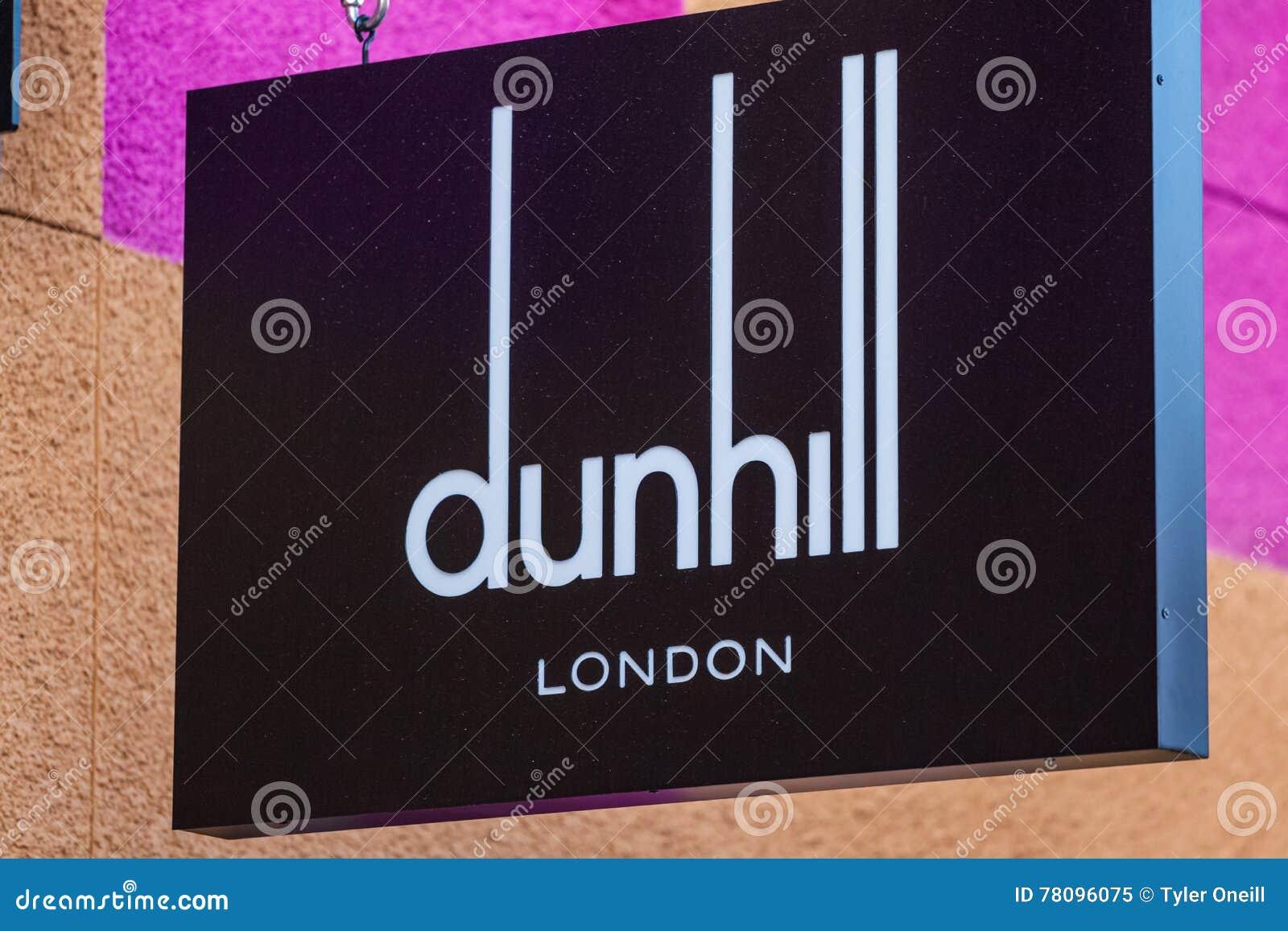 LAS VEGAS, NEVADA - Augustus tweeëntwintigste, 2016: Dunhill Logo On Store Fro
