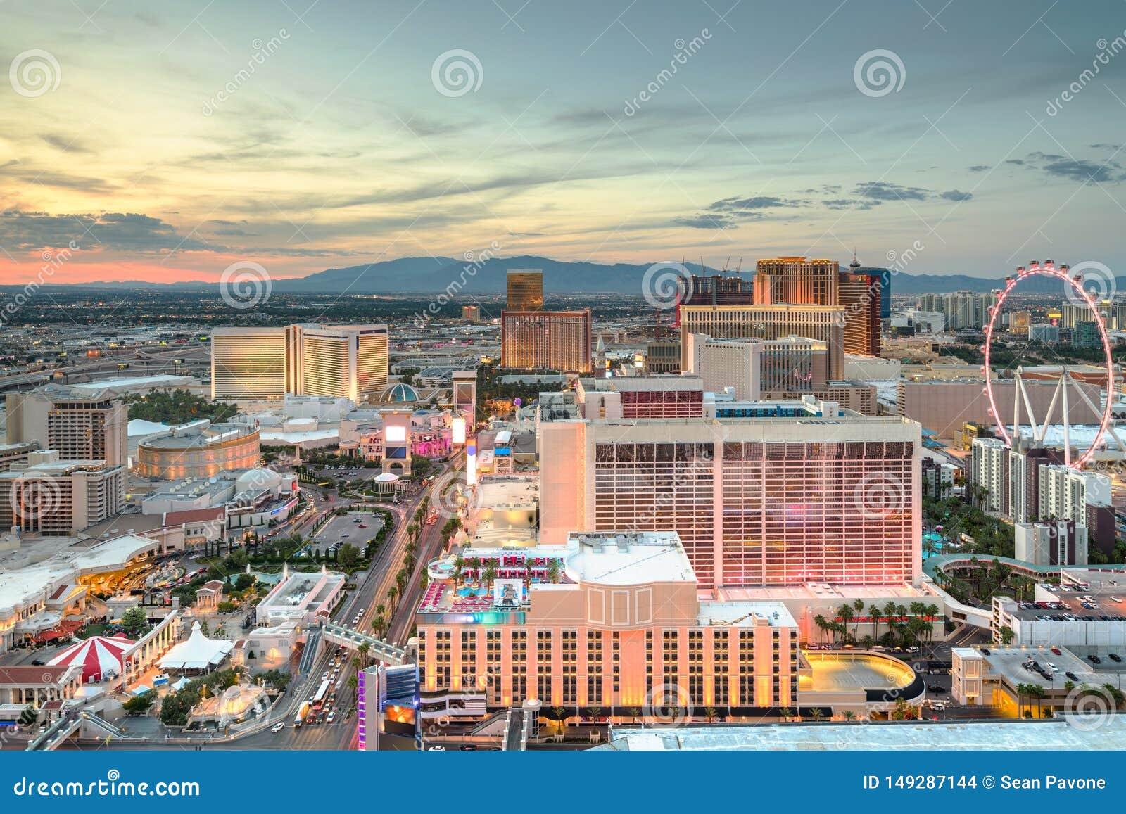 Las Vegas, Nevada, cityscape van de V.S.