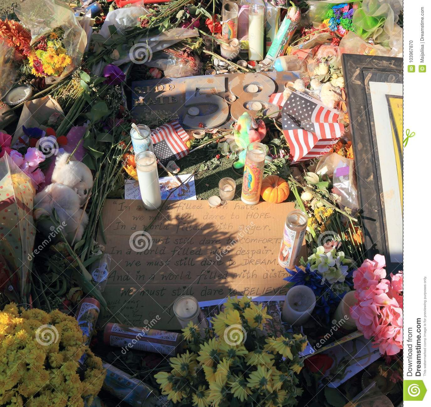 Las Vegas, Nevada: Plate And Poem Against Hate - At Mourning