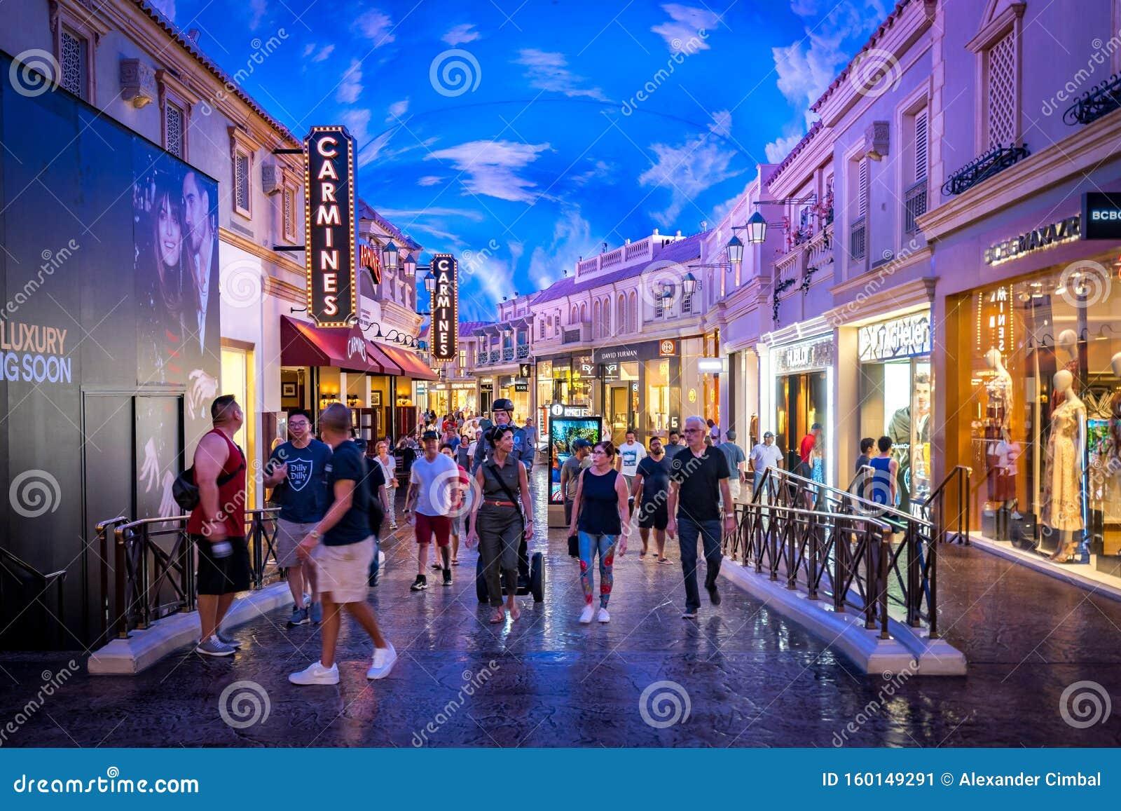 Las Vegas Nevada Usa Shopping Strip Inside The Caesars Palace