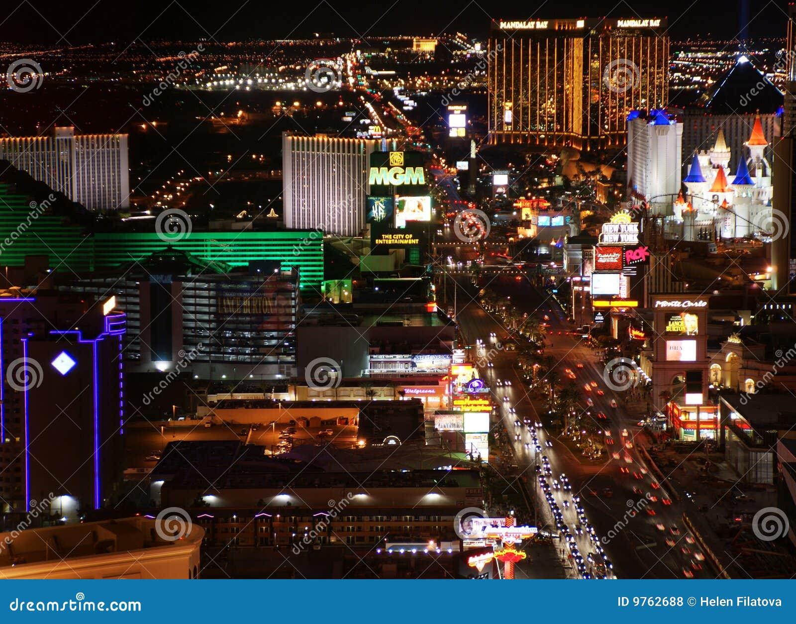 Las Vegas Night Panorama