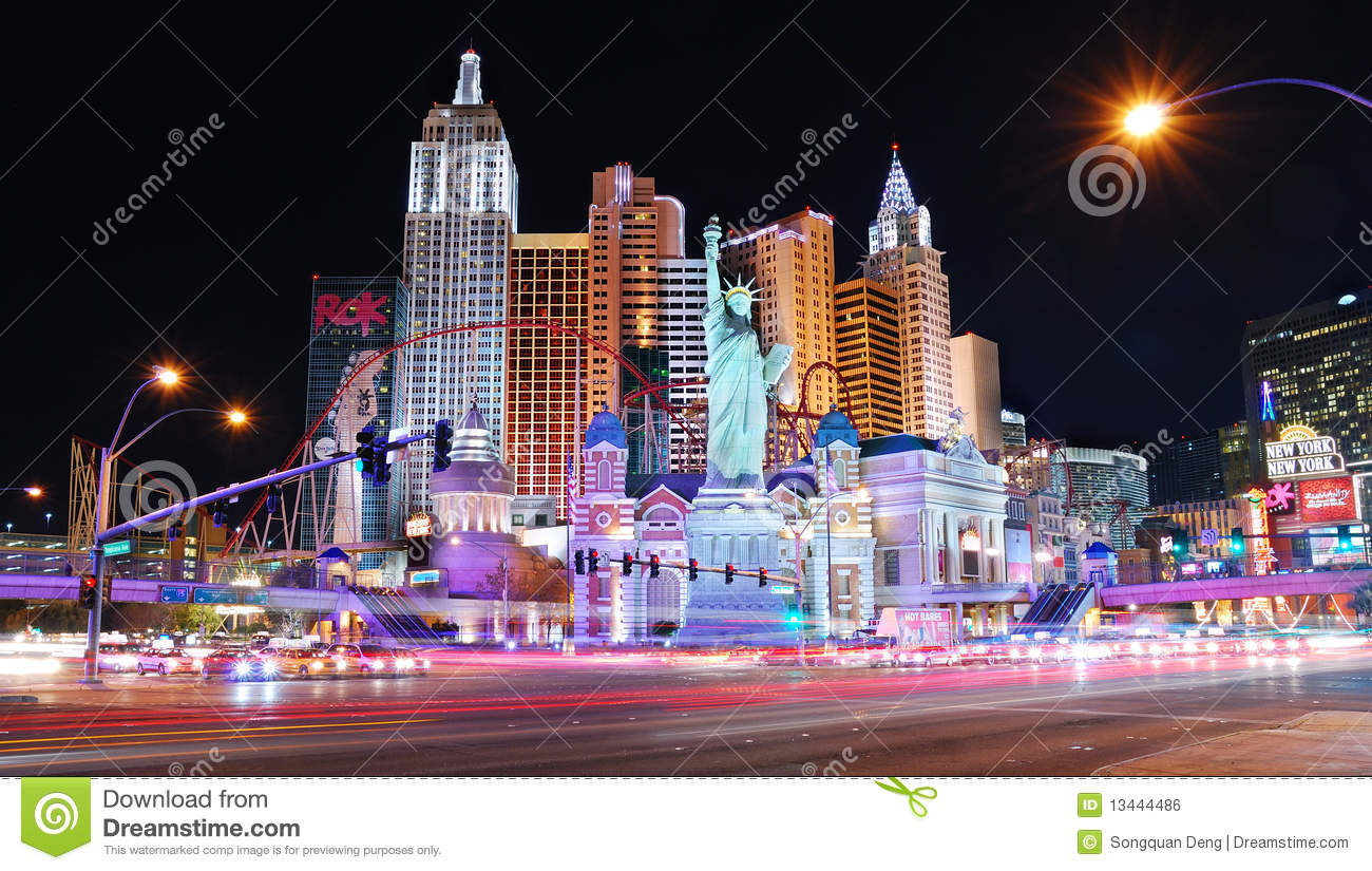 Las Vegas By Night Las Vegas De Noche As Vegas Pola: Las Vegas Night Scene Editorial Photo. Image Of Excitement
