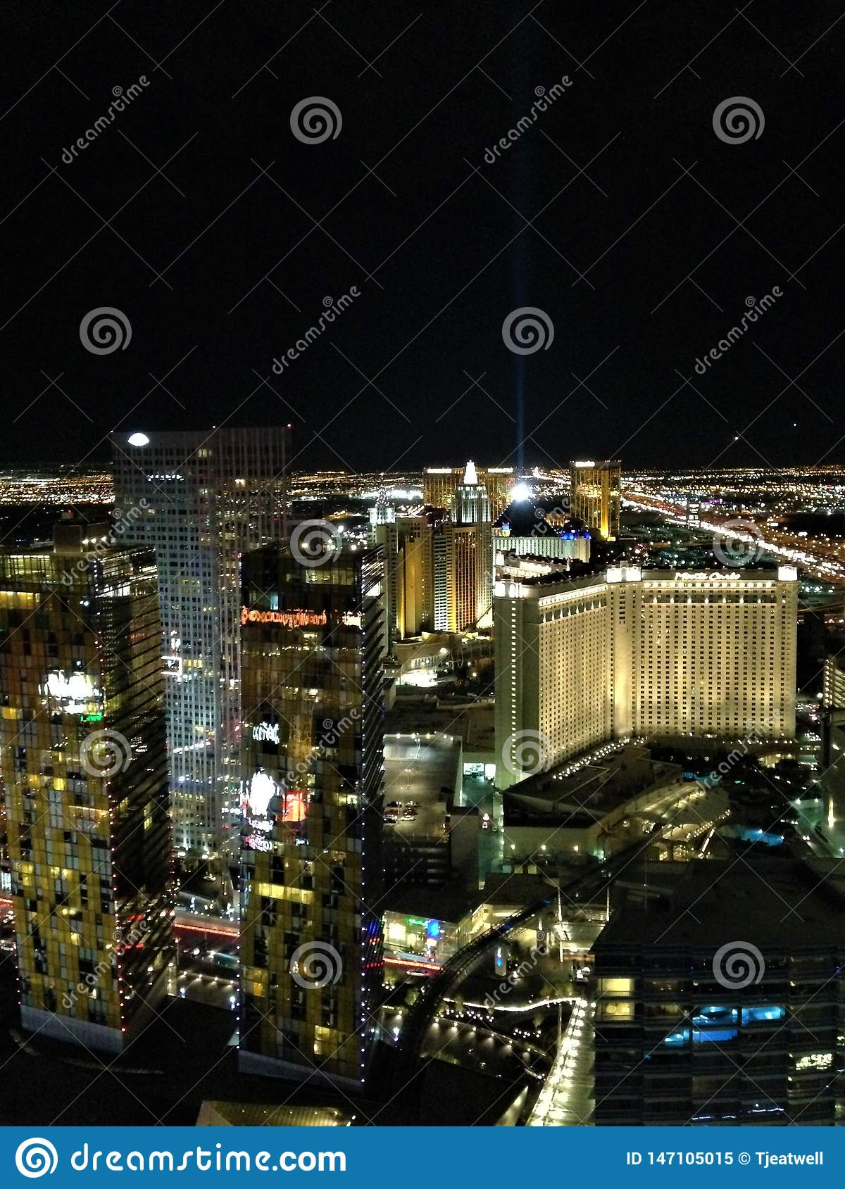 Las Vegas at night time