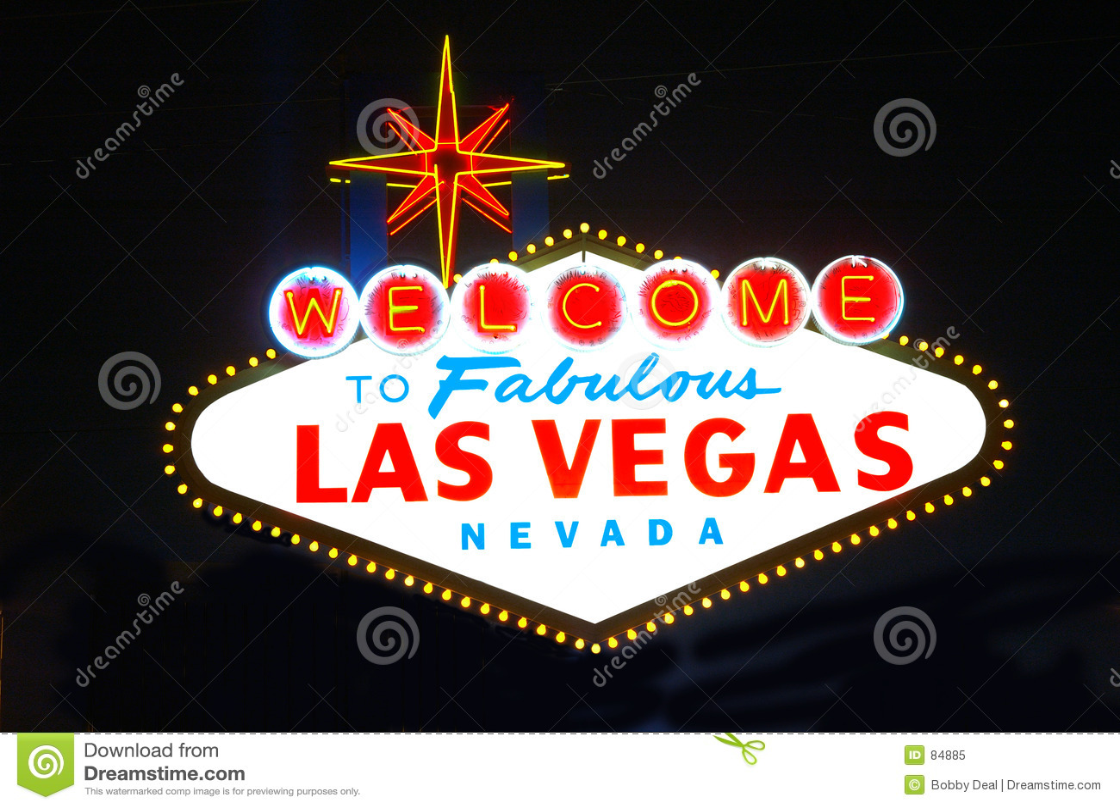 Las Vegas nocy znak