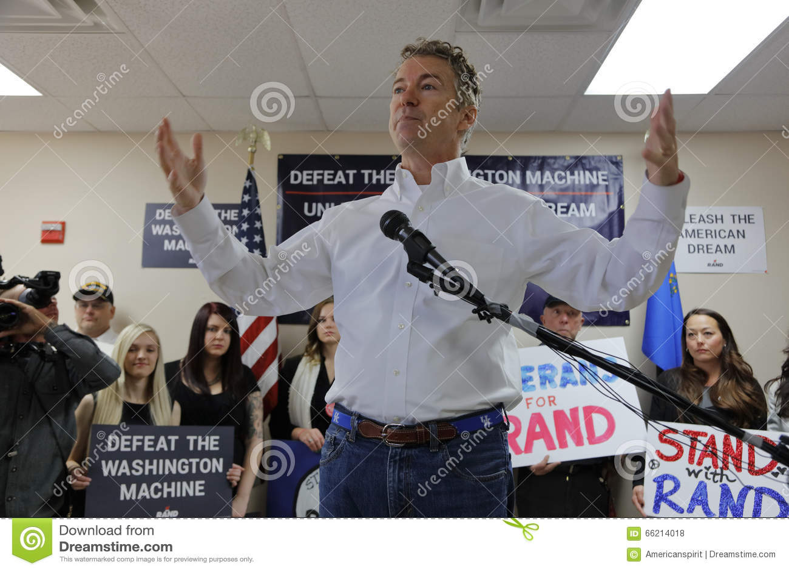 las vegas nv dec 15 201presidential candidate rand paul campaigns