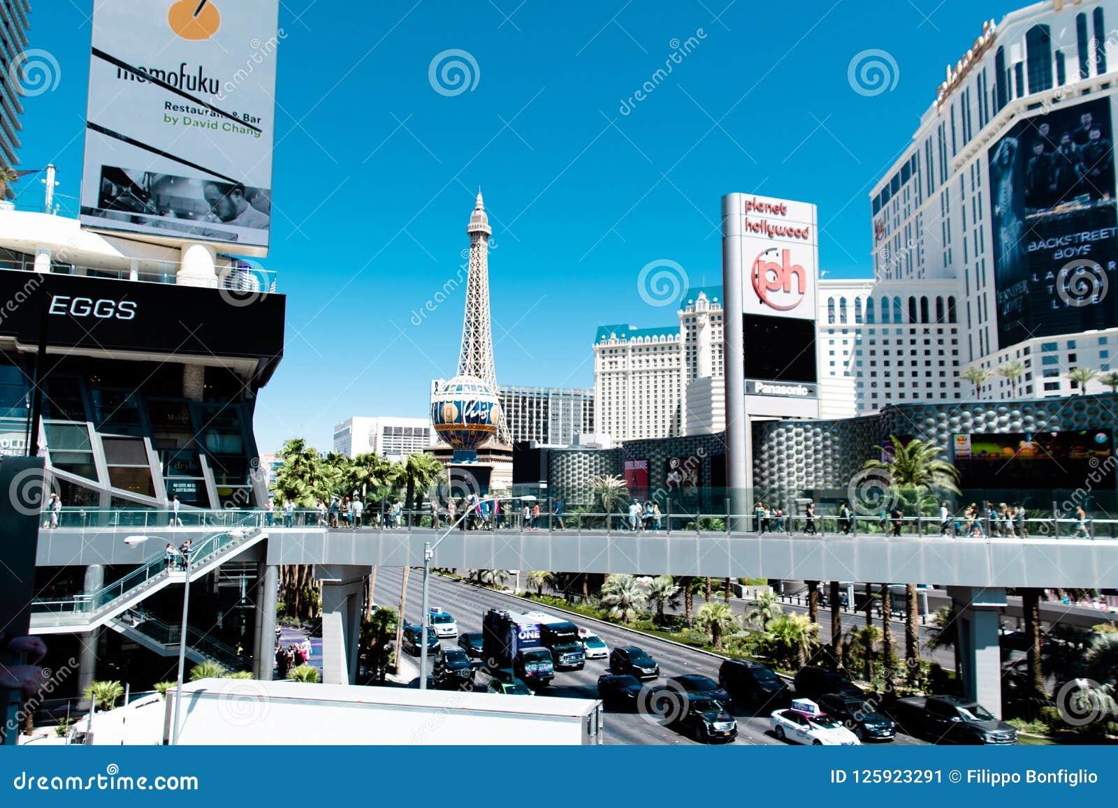Las Vegas NV, USA 09032018: bedöva sikten av remsan i morgonen