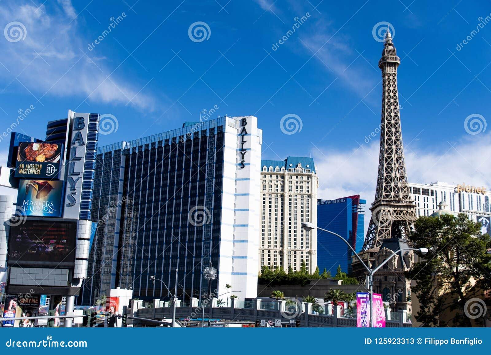 Las Vegas, NV, usa 09032018: oszałamiająco widok pasek w ranku