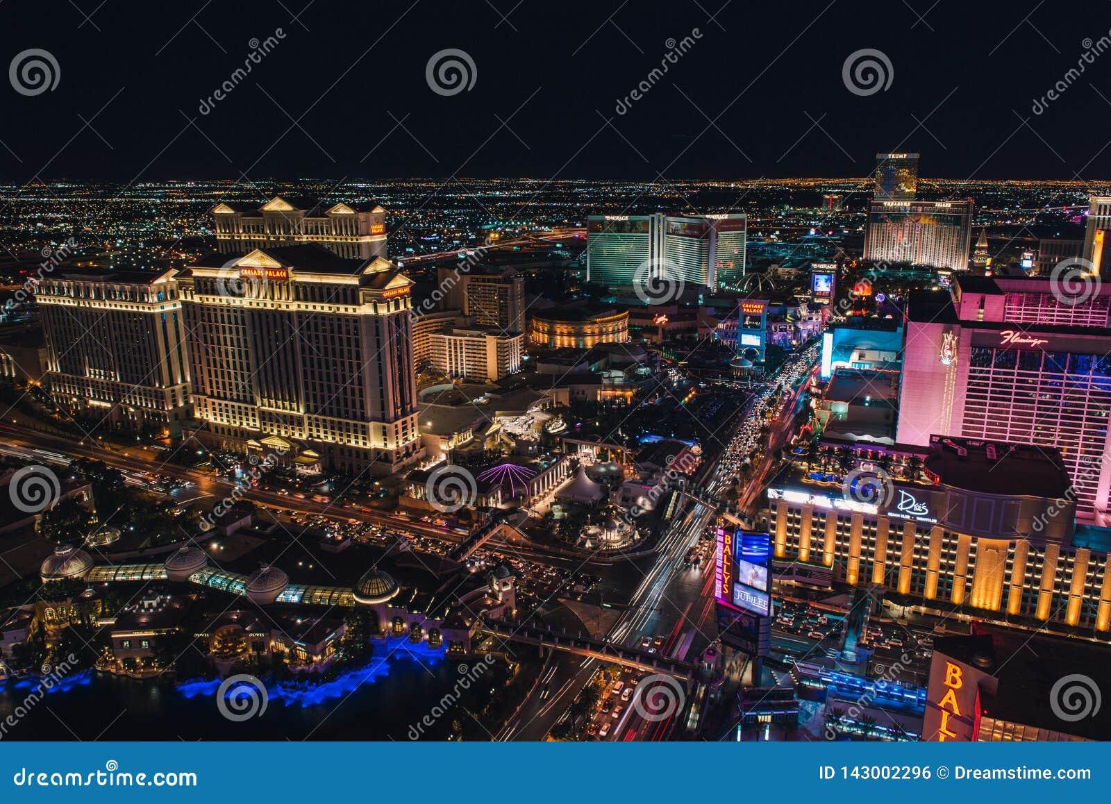Las Vegas pasek od wieży eiflej