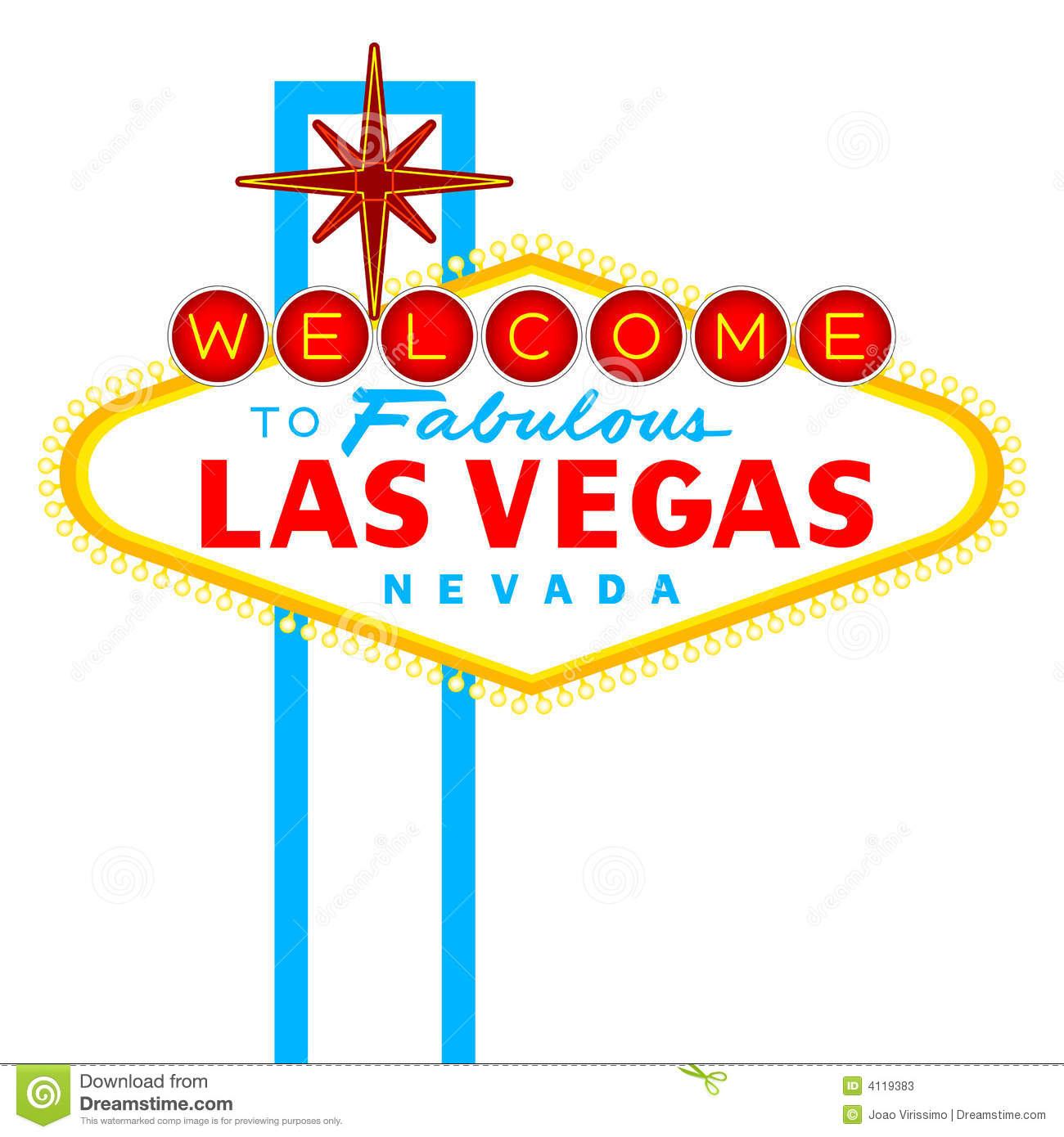 Las vegas sign stock vector illustration of money lights 4119383 las vegas sign pronofoot35fo Choice Image
