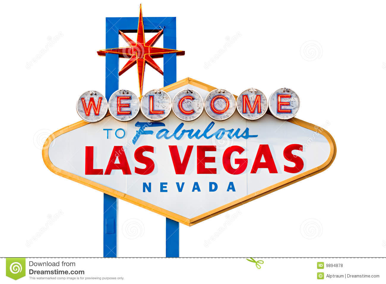 Las Vegas Sign Isolated On White Royalty Free Stock Photos - Image ...