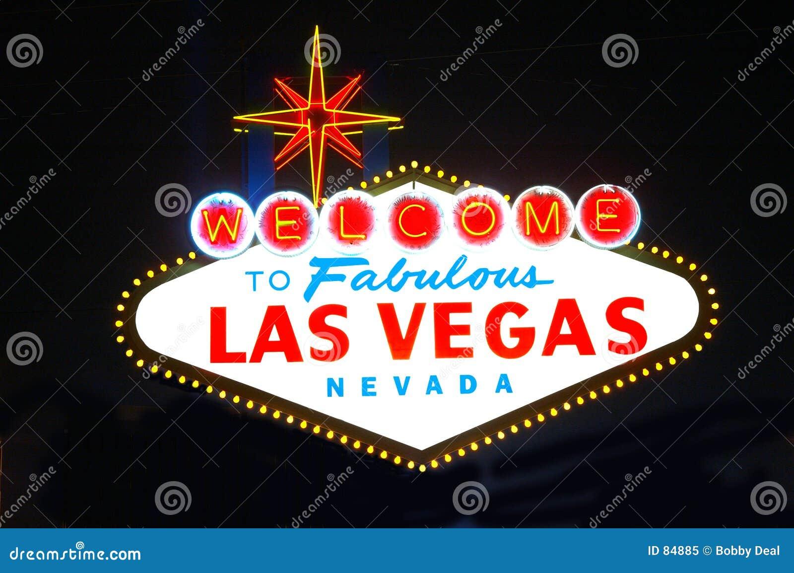 Las Vegas Sign Night Royalty Free Stock Photo Image