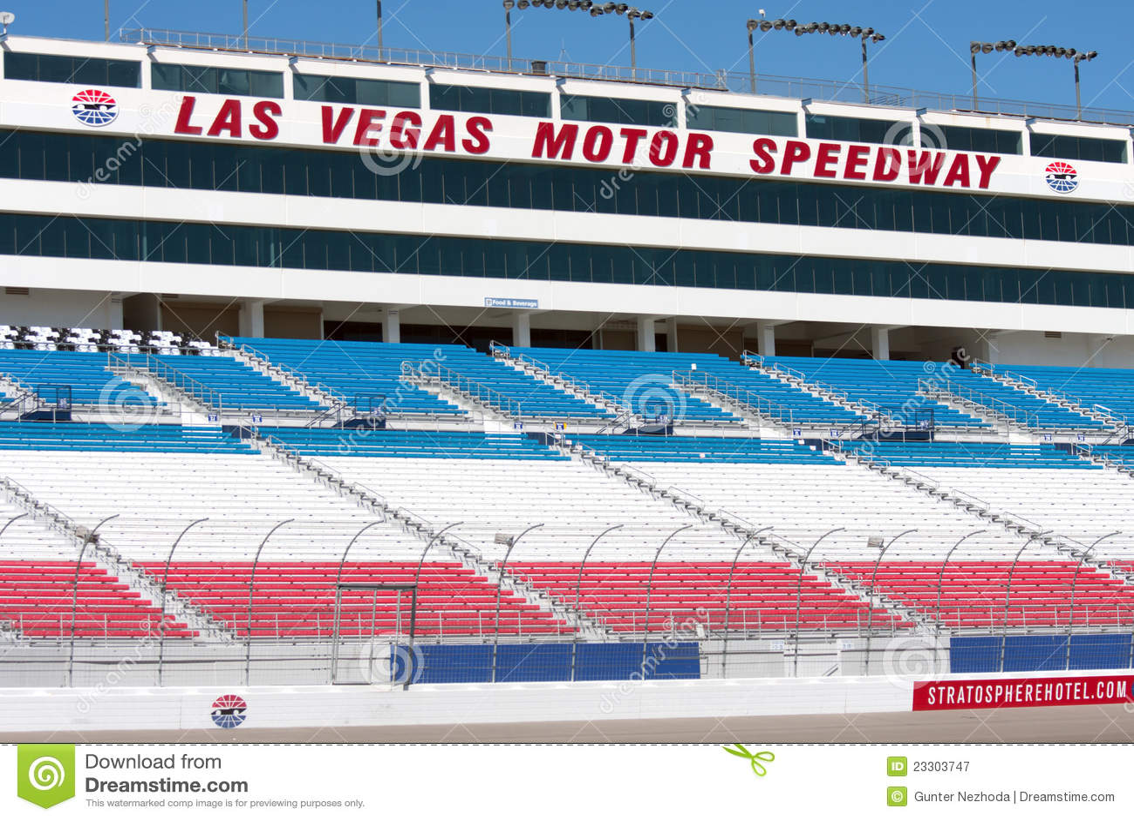 Las vegas speedway grandstand editorial photography for Hotels near las vegas motor speedway
