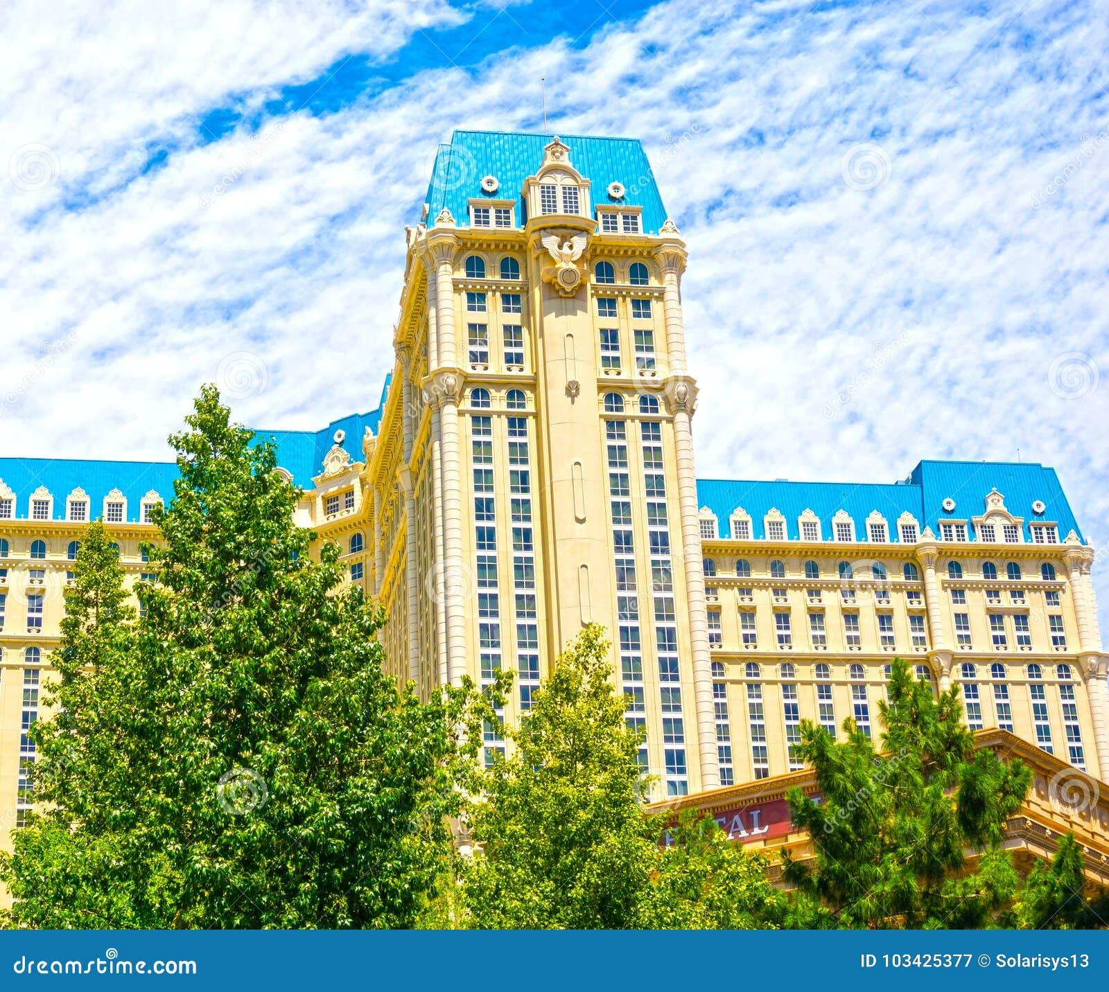 Las Vegas, Stany Zjednoczone Ameryka, Maj - 05, 2016: Widok Paryski hotel przy Las Vegas paskiem