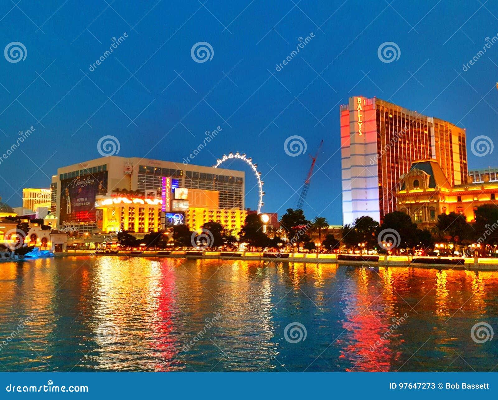 Las Vegas-Streifen über See Bellagio